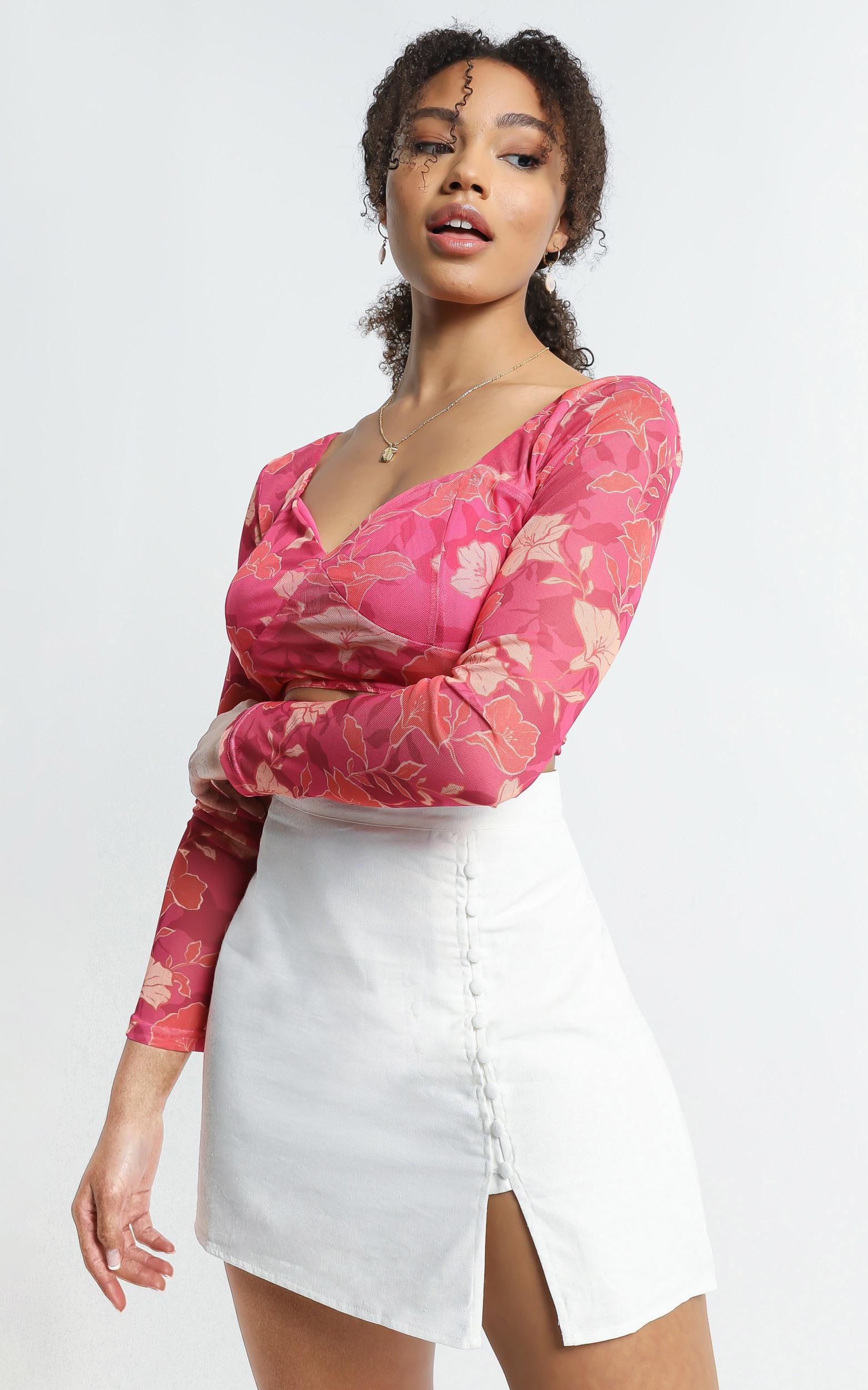 Zora Skirt in White - 6 (XS), White, hi-res image number null