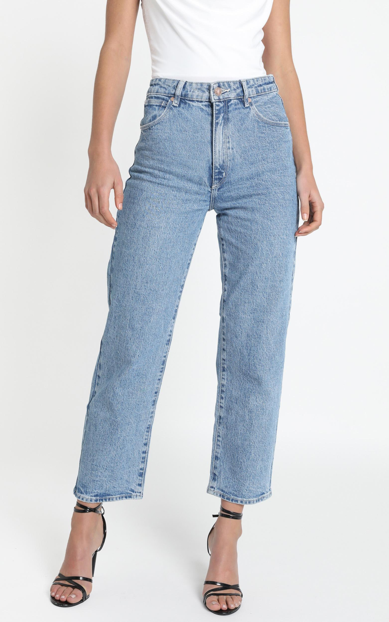 Abrand - A Venice Straight Jeans in stephanie - 14 (XL), BLU1, hi-res image number null