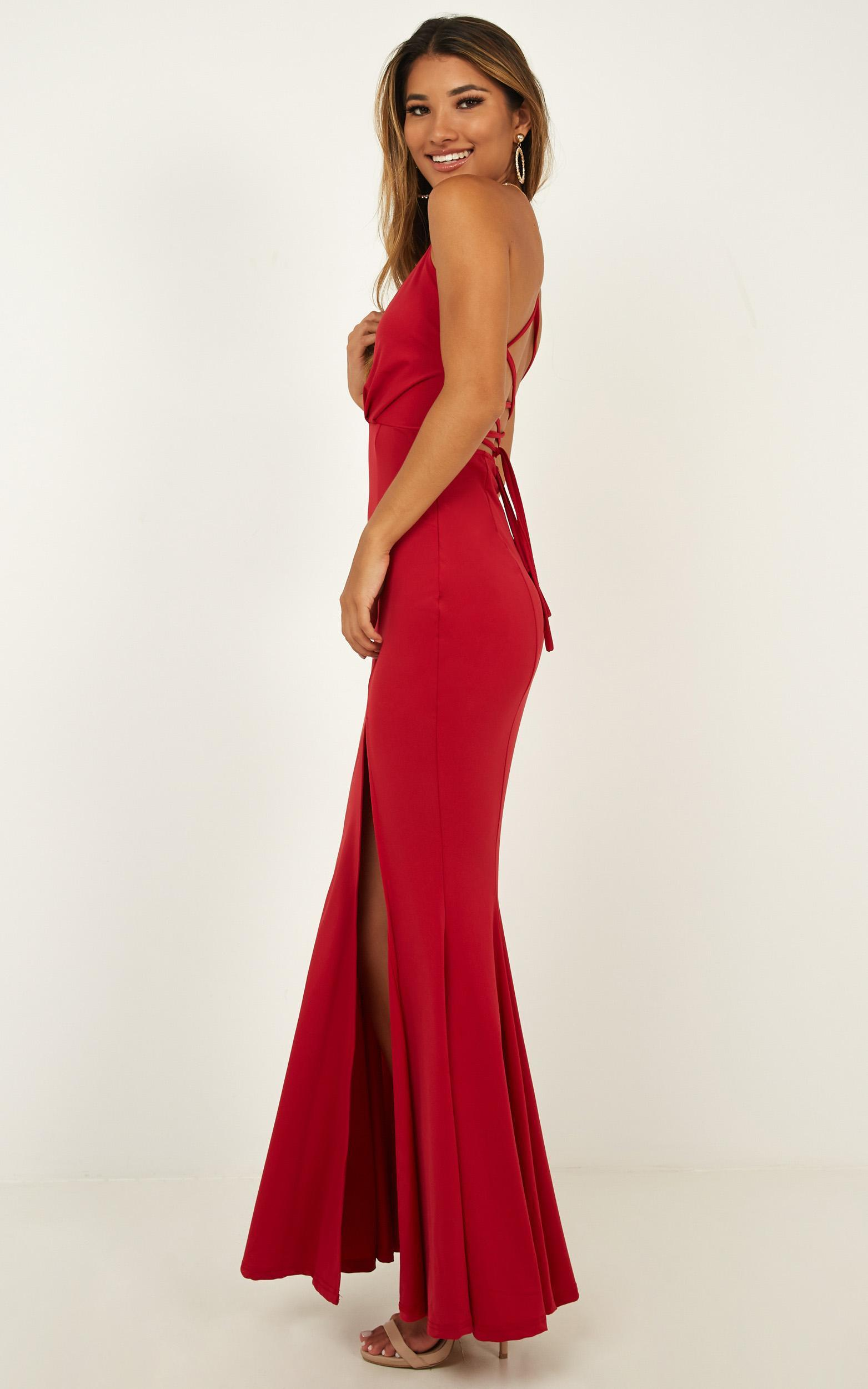 Storm Soul Maxi Dress In red - 20 (XXXXL), Red, hi-res image number null