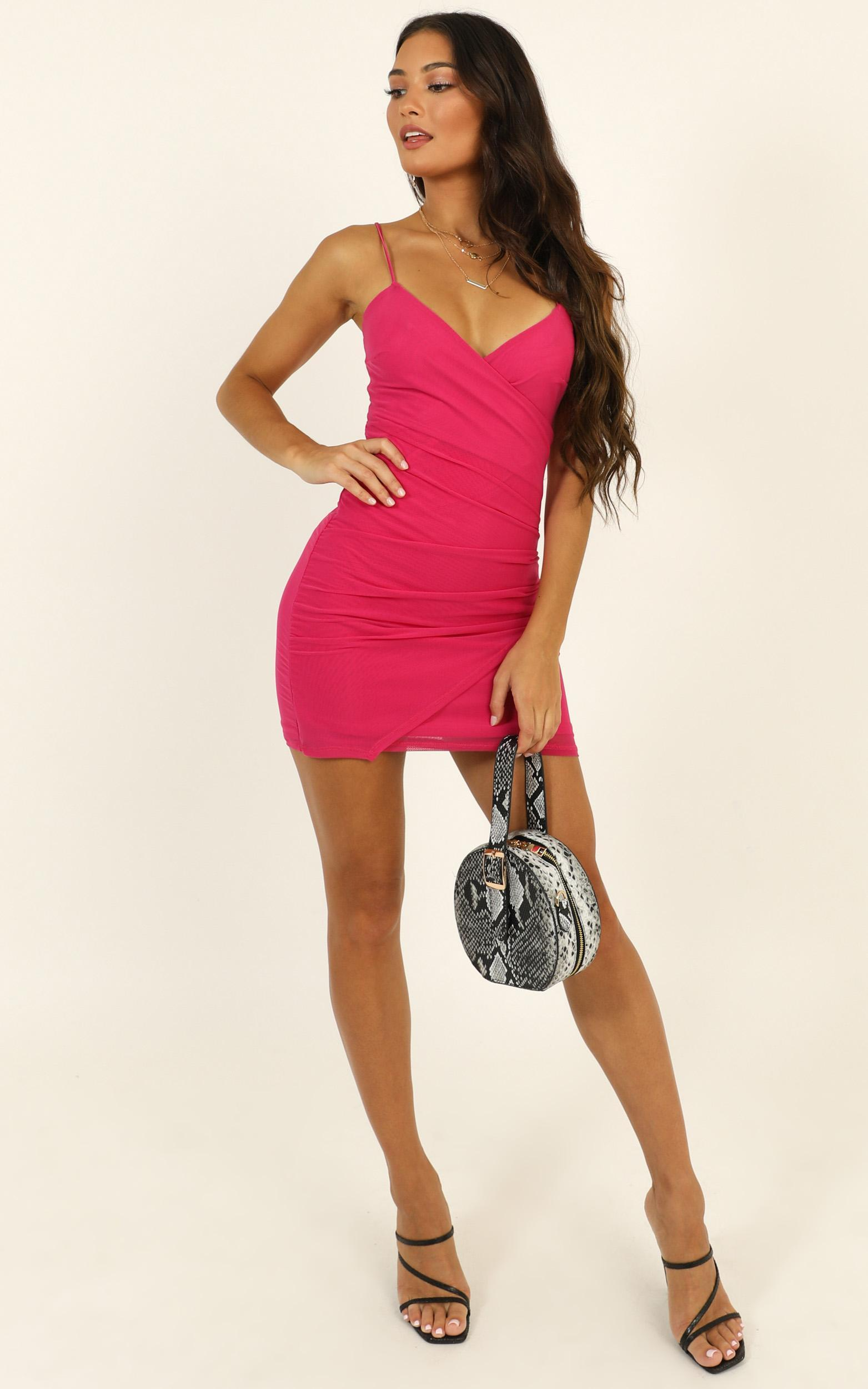Do You Love Me Dress in hot pink mesh - 14 (XL), Pink, hi-res image number null