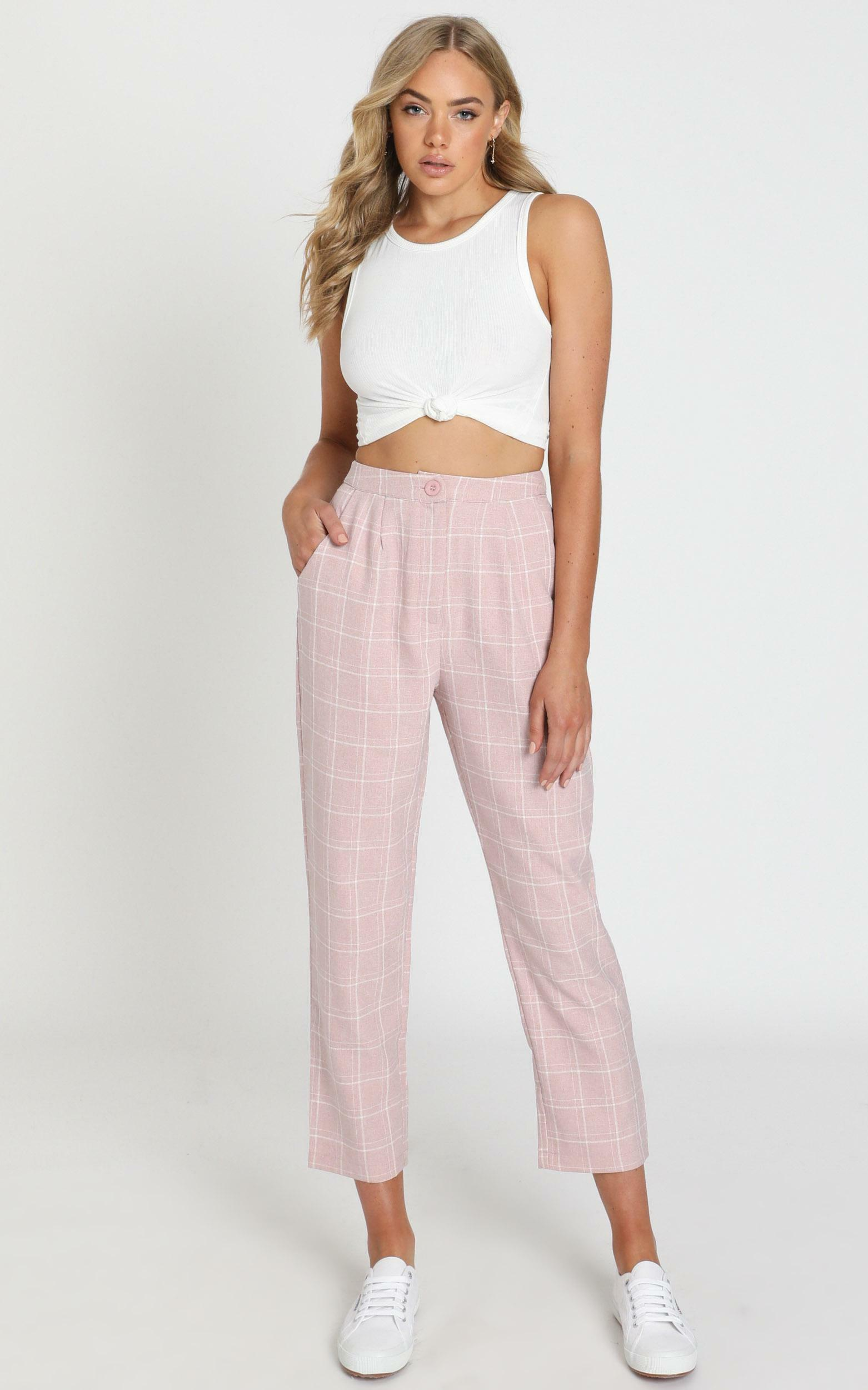Alpine Pants in blush check - 20 (XXXXL), Blush, hi-res image number null