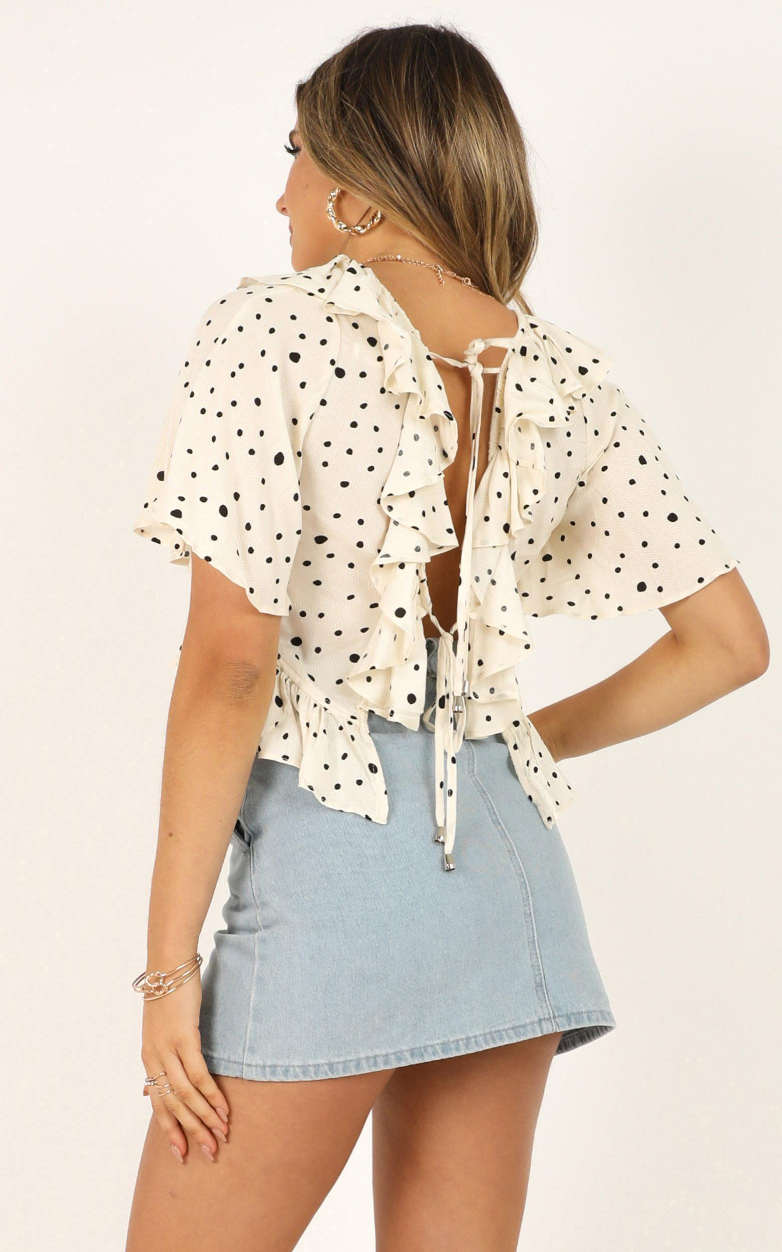 When I Need You top in cream spot - 12 (L), Cream, hi-res image number null