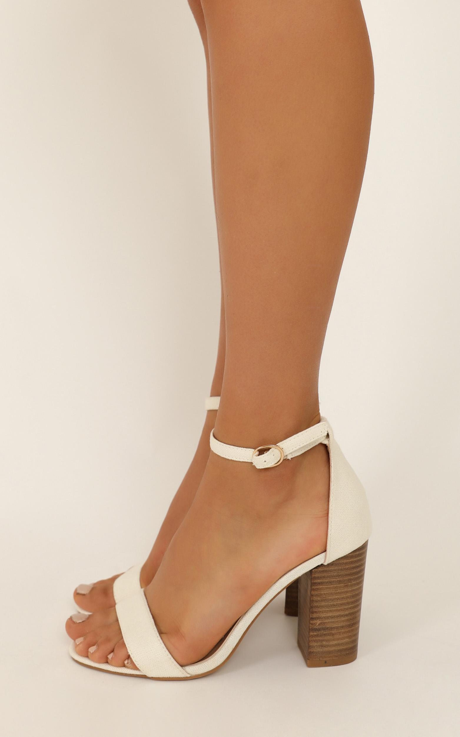 Billini - Narva heels in beige linen - 10, Beige, hi-res image number null