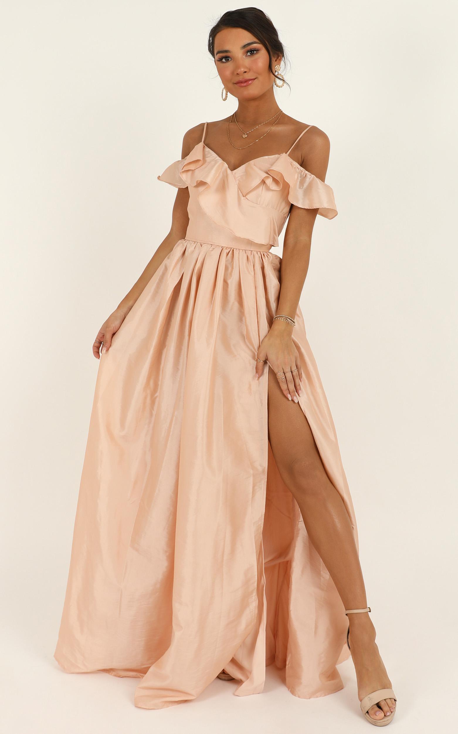 Return To Sender maxi dress in blush - 12 (L), Blush, hi-res image number null