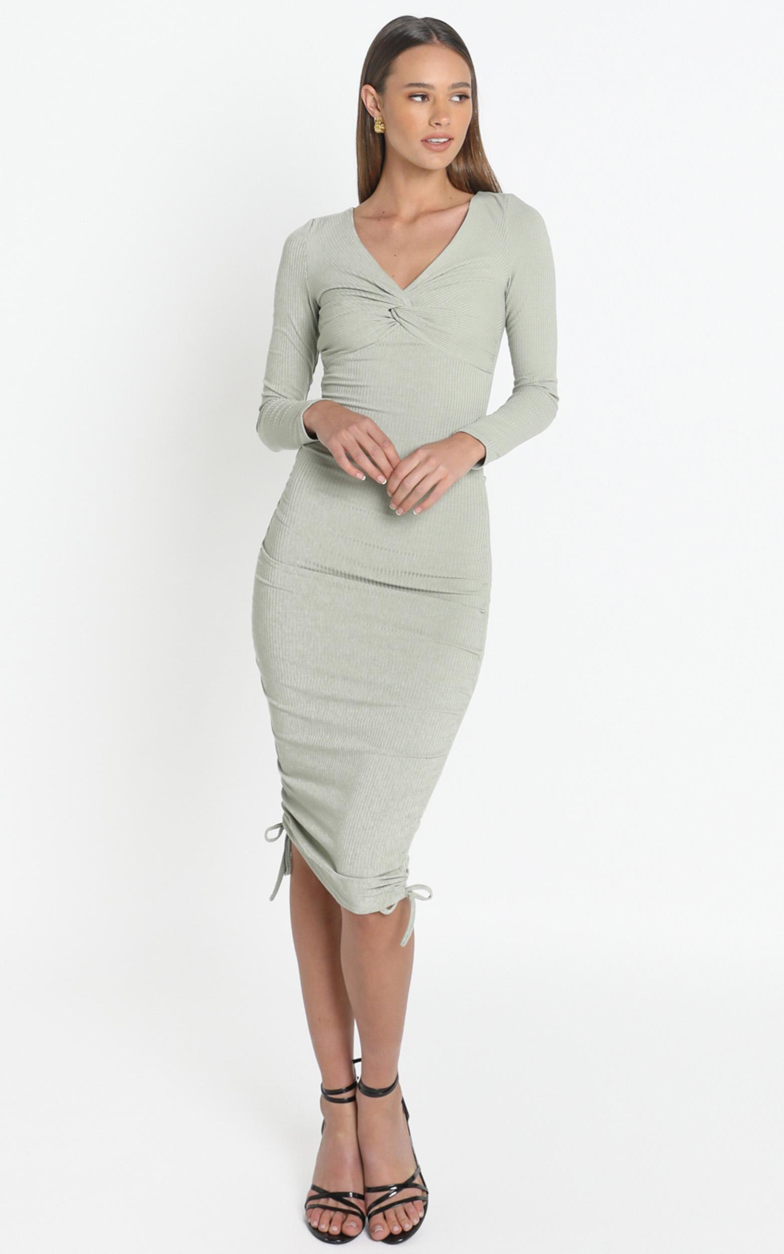 Naiya Dress in Khaki - 12 (L), Khaki, hi-res image number null