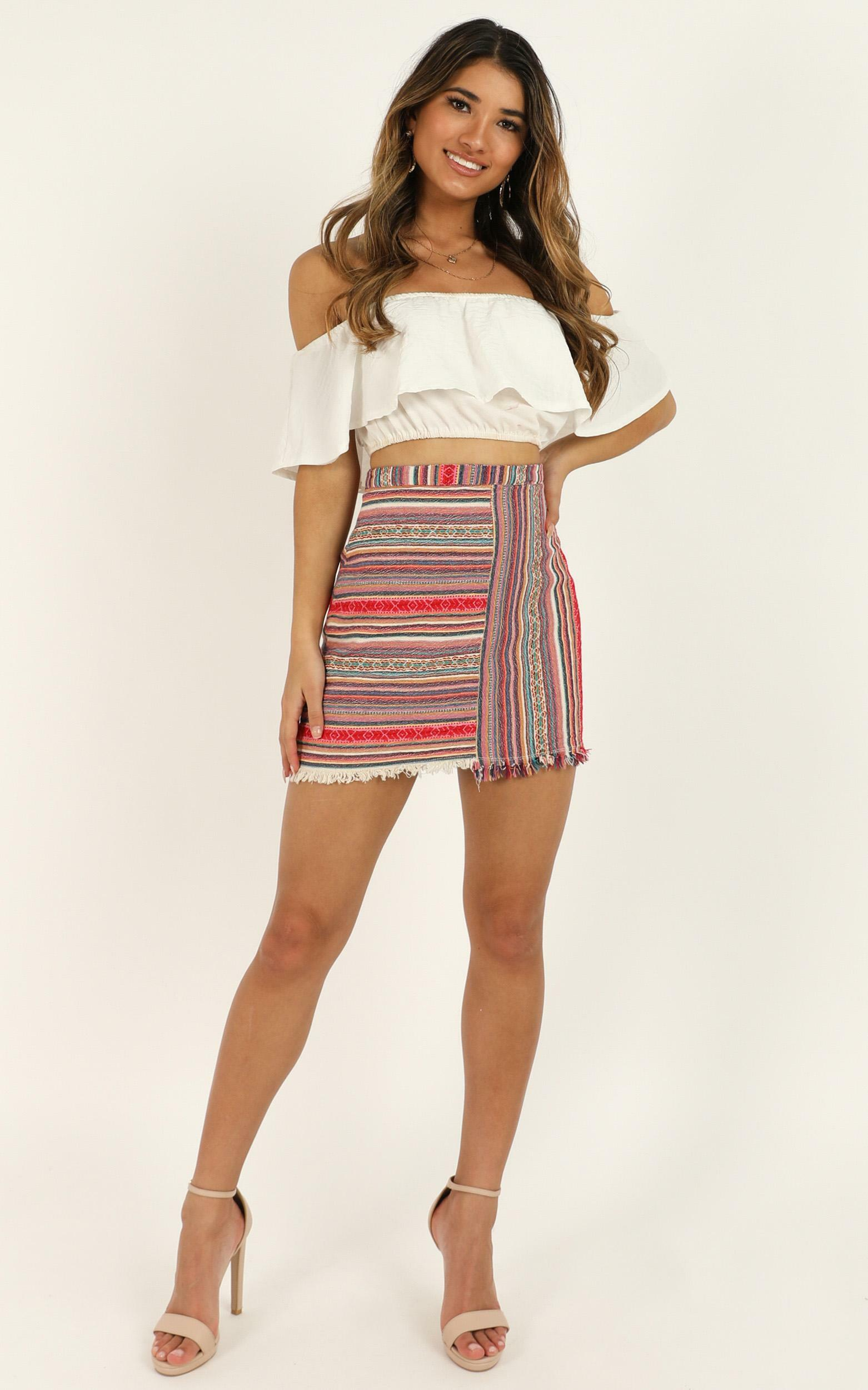 Spice Your Life Skirt In Pink Print - 4 (XXS), Pink, hi-res image number null