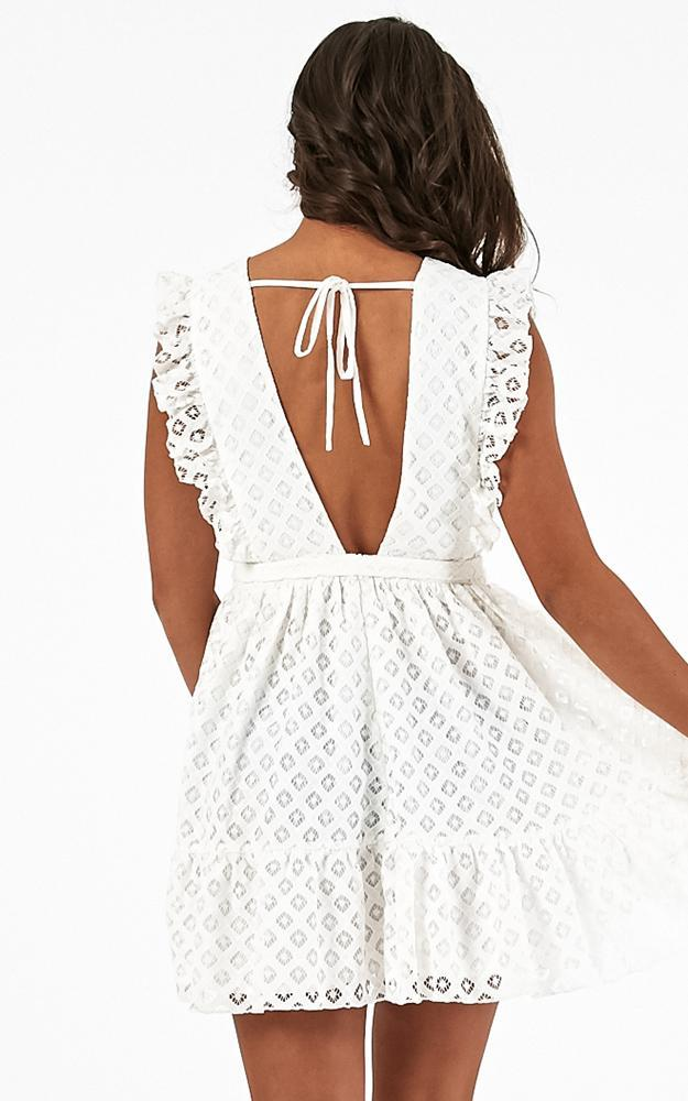 Only Lovers Left Dress in white lace - 20 (XXXXL), White, hi-res image number null