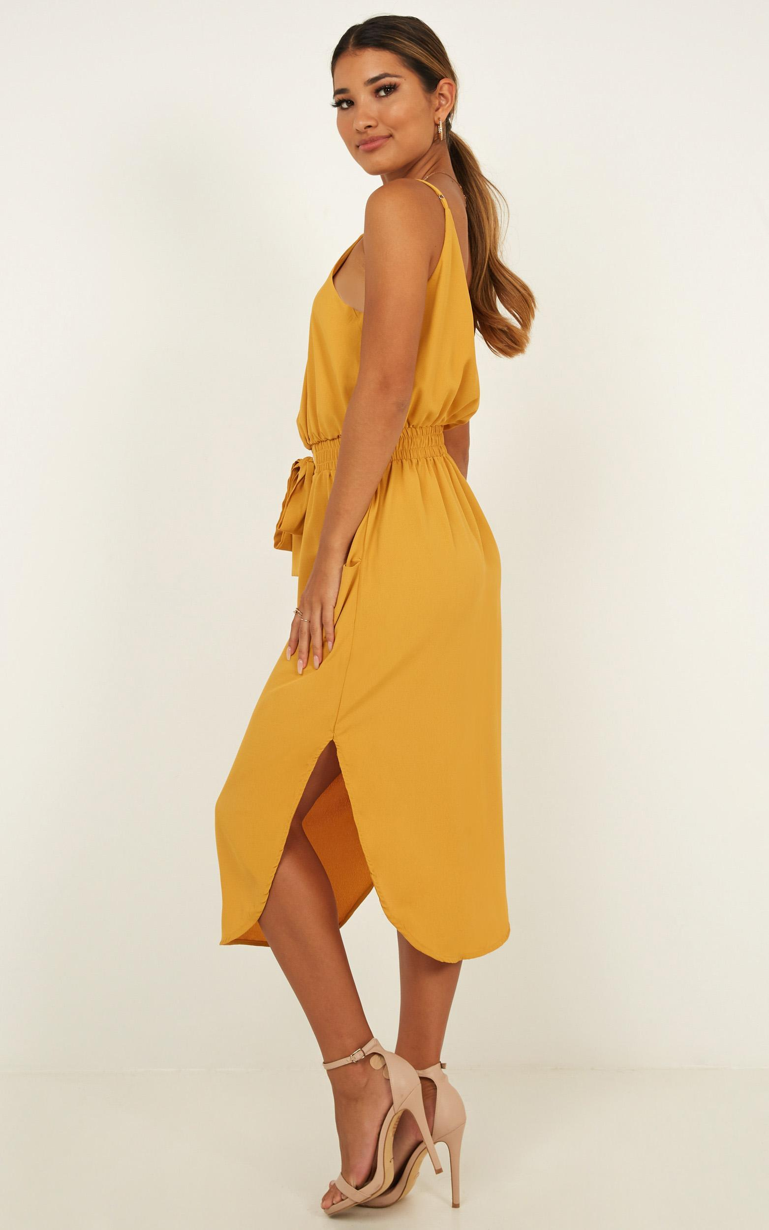 Get Things Done Dress in mustard - 14 (XL), Mustard, hi-res image number null