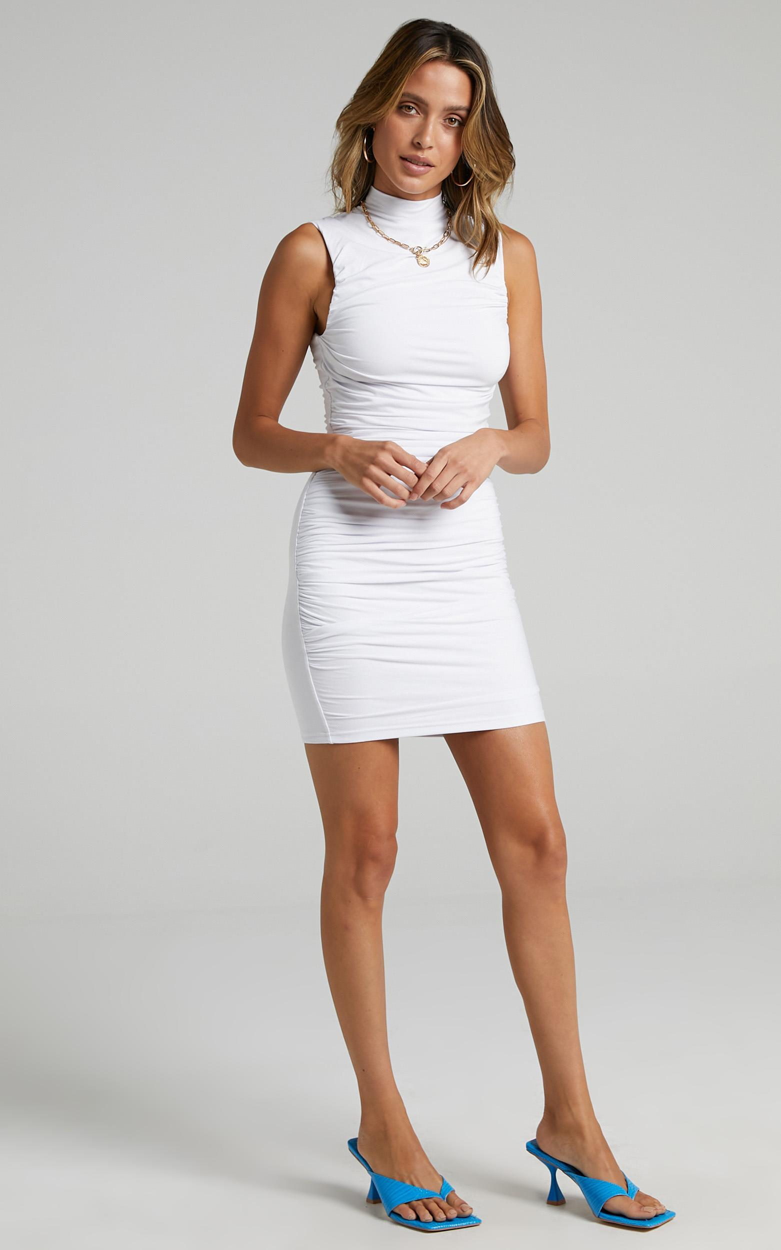 Lioness - Don't Call Me Baby Mini Dress in White - 6 (XS), White, hi-res image number null
