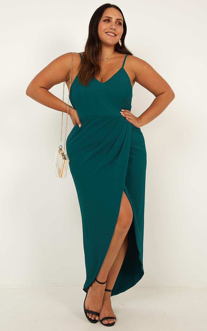 Lucky Day Maxi Dress in Teal - 4 (XXS), BLU1, hi-res image number null