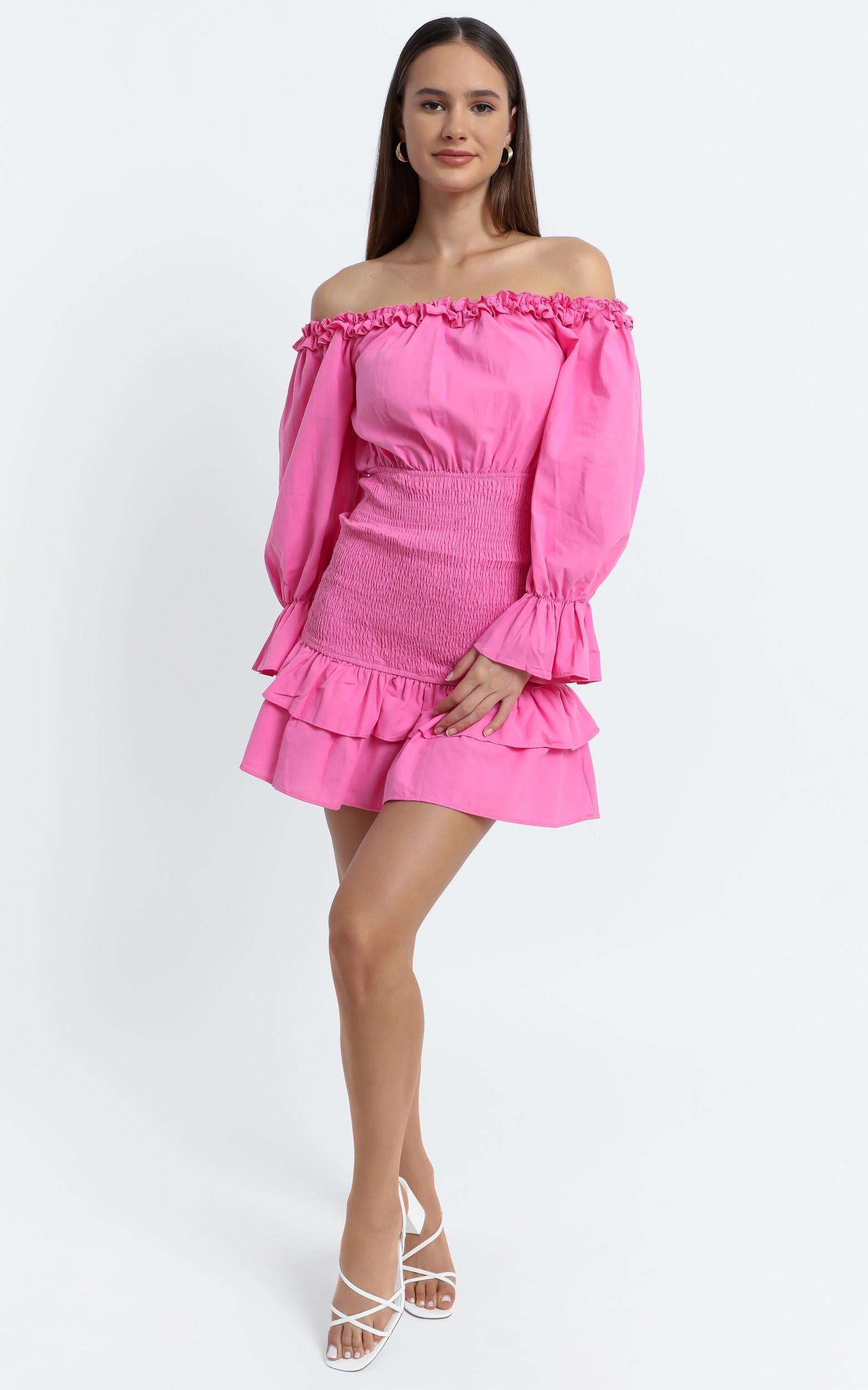 Lizabeth Dress in Hot Pink - 6 (XS), Pink, hi-res image number null