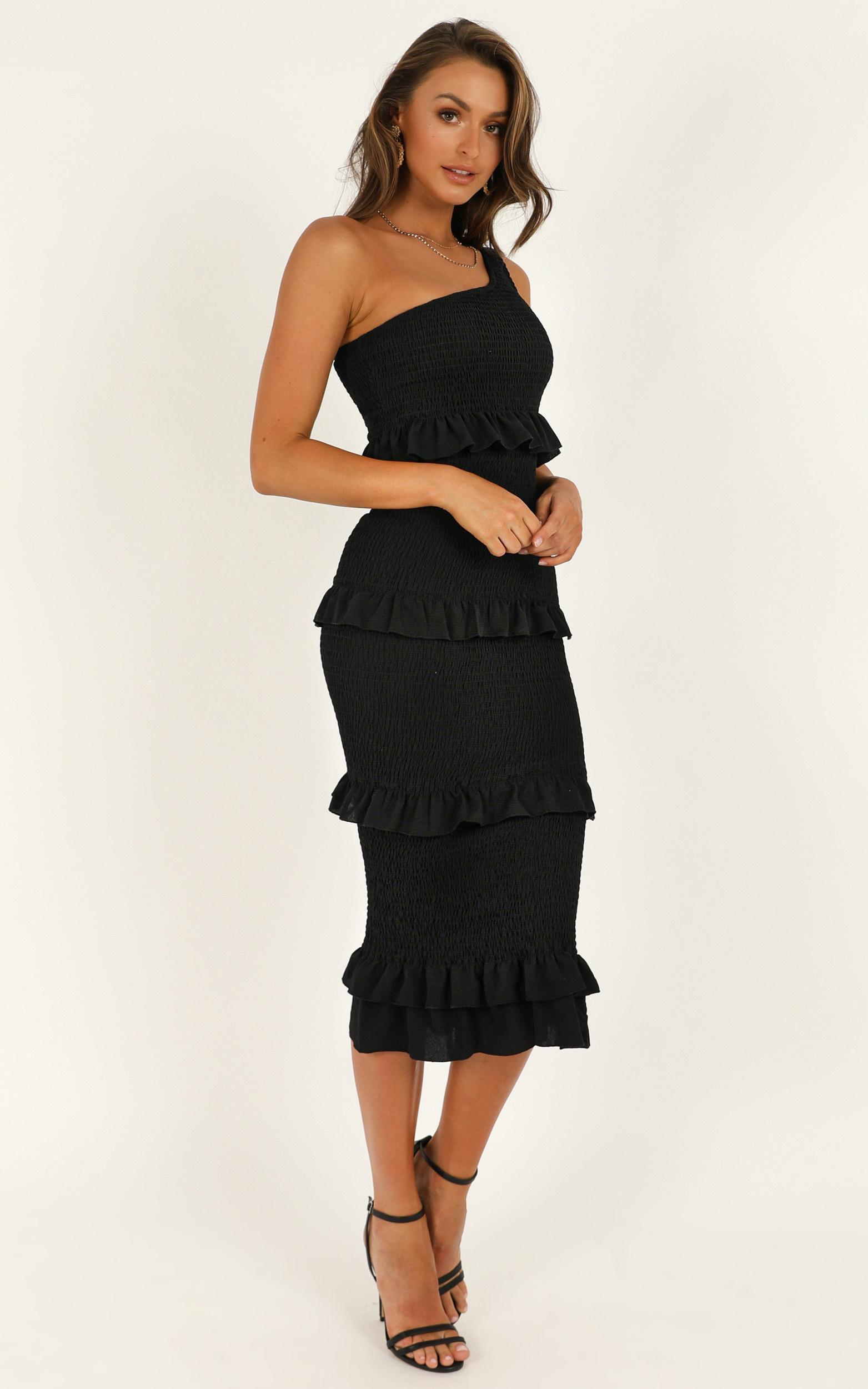 Love So Hard Dress In Black - 16 (XXL), Black, hi-res image number null