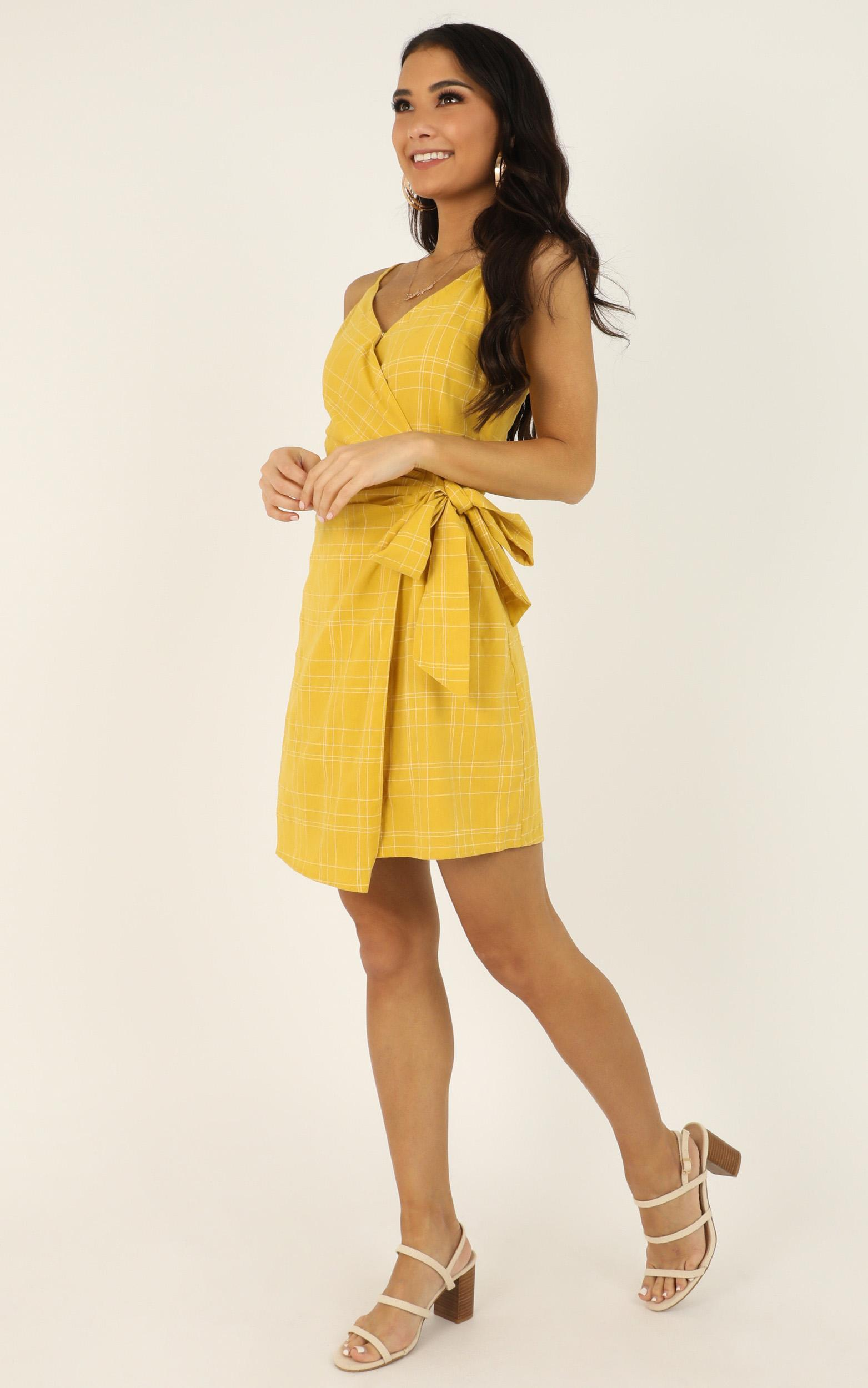 What Matters Most dress in yellow - 12 (L), Yellow, hi-res image number null