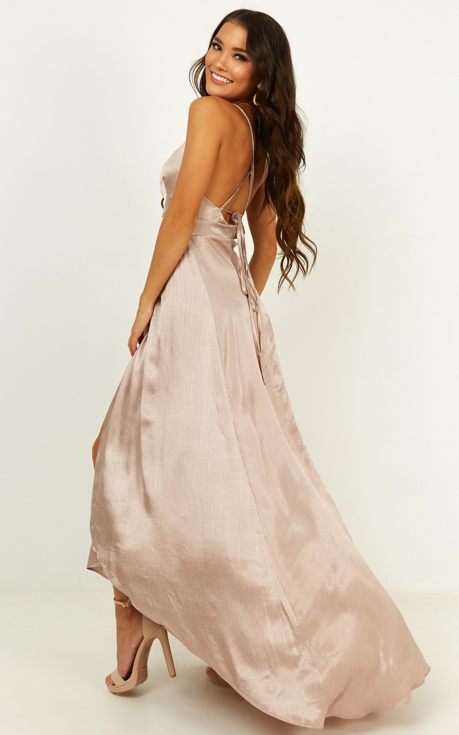No mistaking dress in mocha satin - 20 (XXXXL), Mocha, hi-res image number null