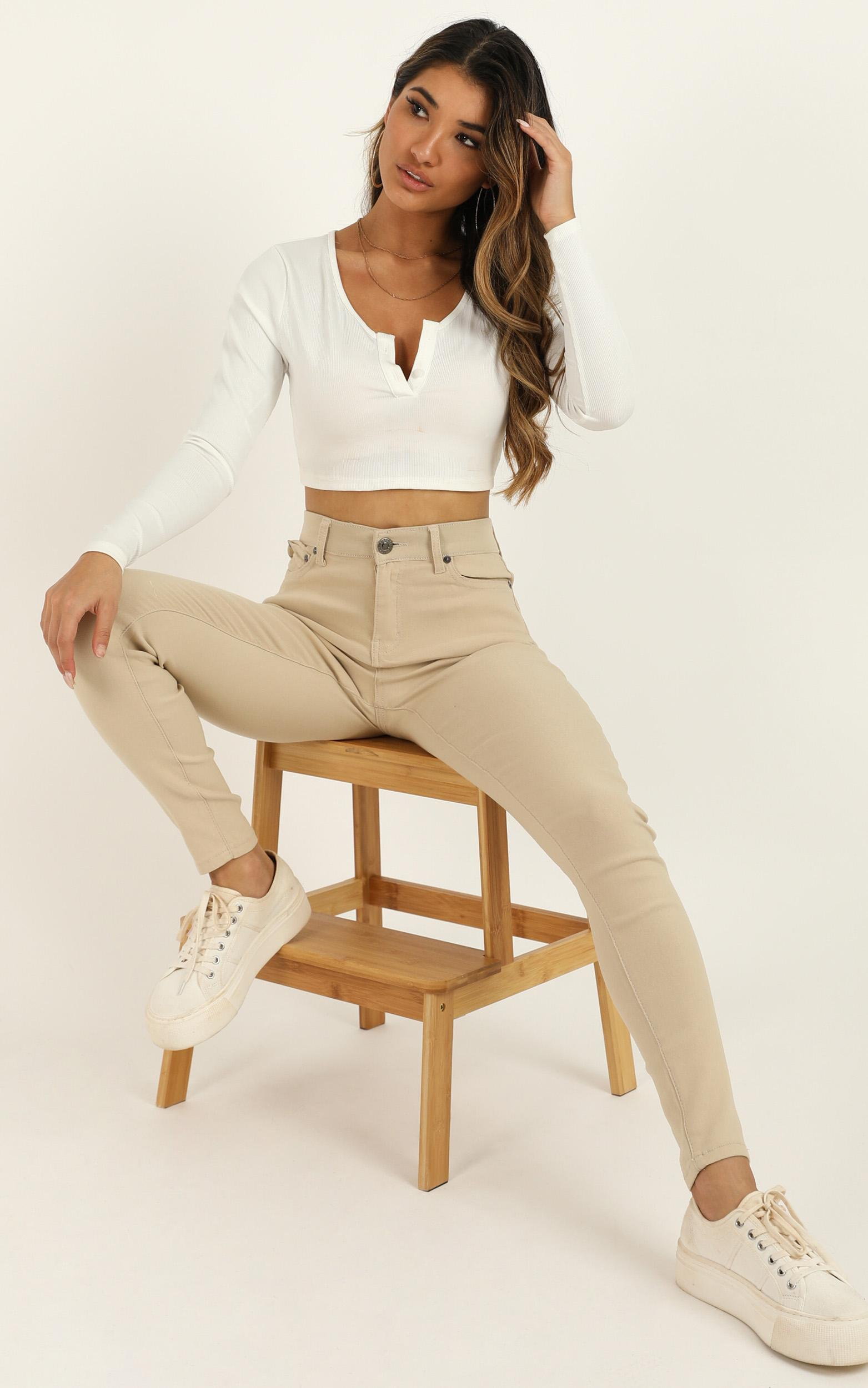 Fill Me In jeggings in beige - 20 (XXXXL), Beige, hi-res image number null
