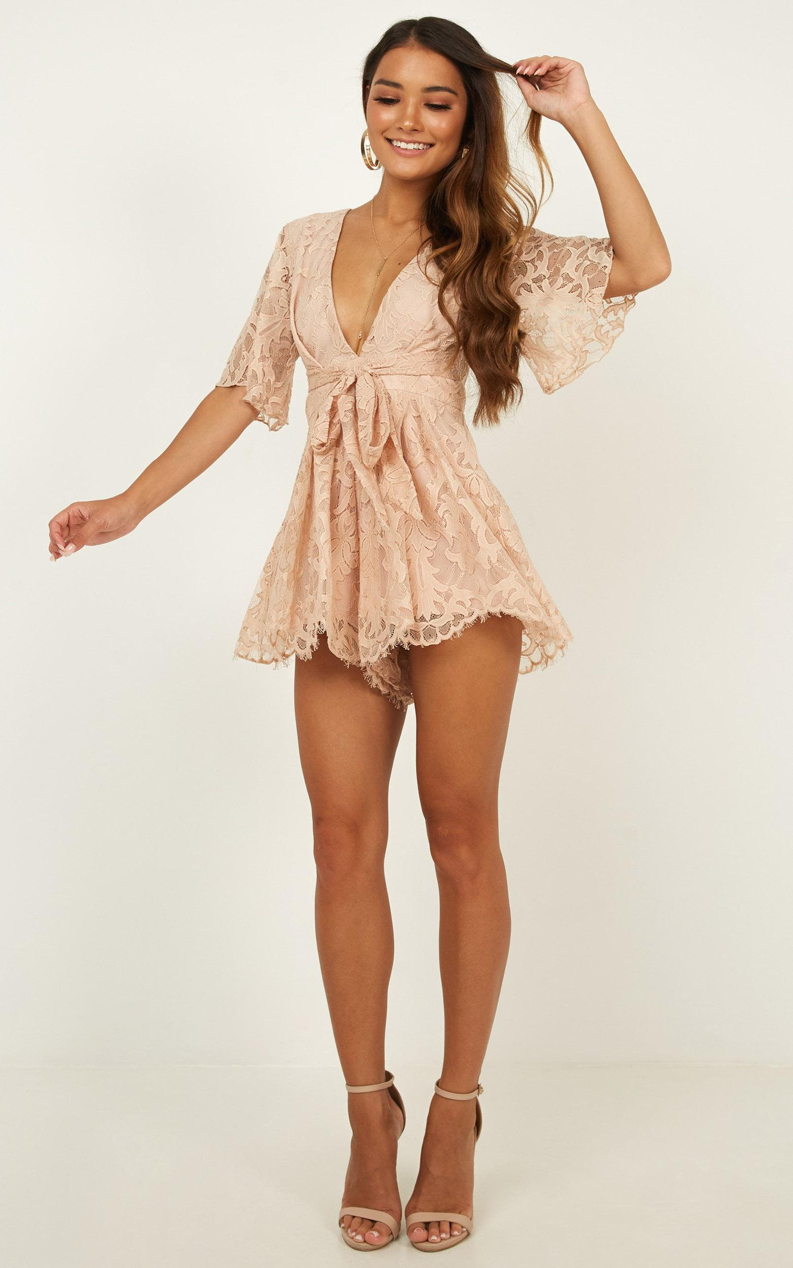 Break the bar playsuit in blush lace - 18 (XXXL), Blush, hi-res image number null