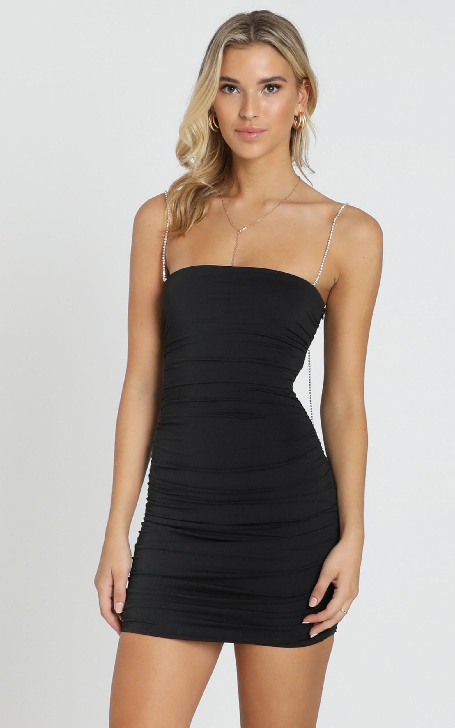 Im A Diamond Dress In Black Diamante - 14 (XL), Black, hi-res image number null