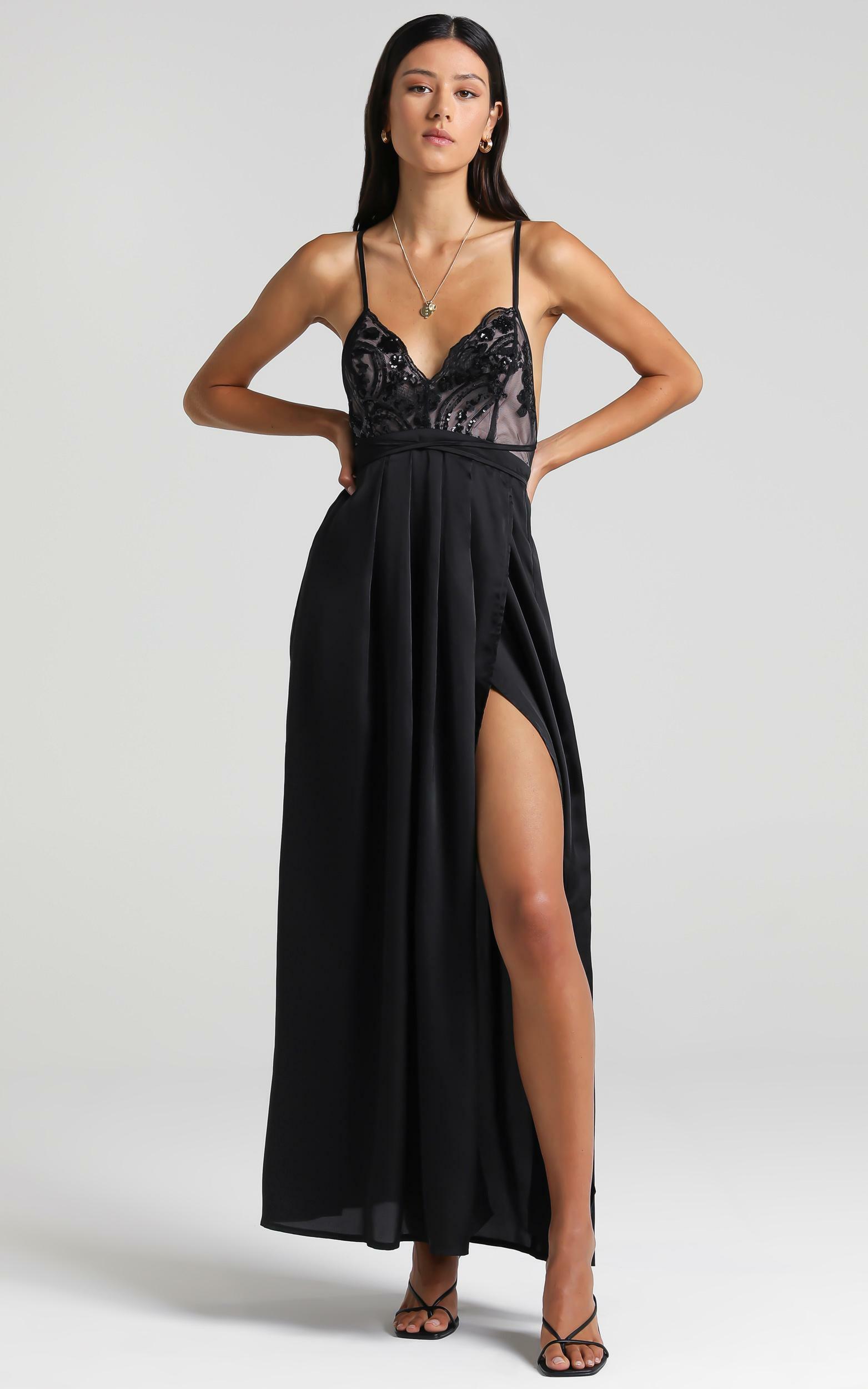 Fix You Maxi Dress in Black - 16, BLK1, hi-res image number null