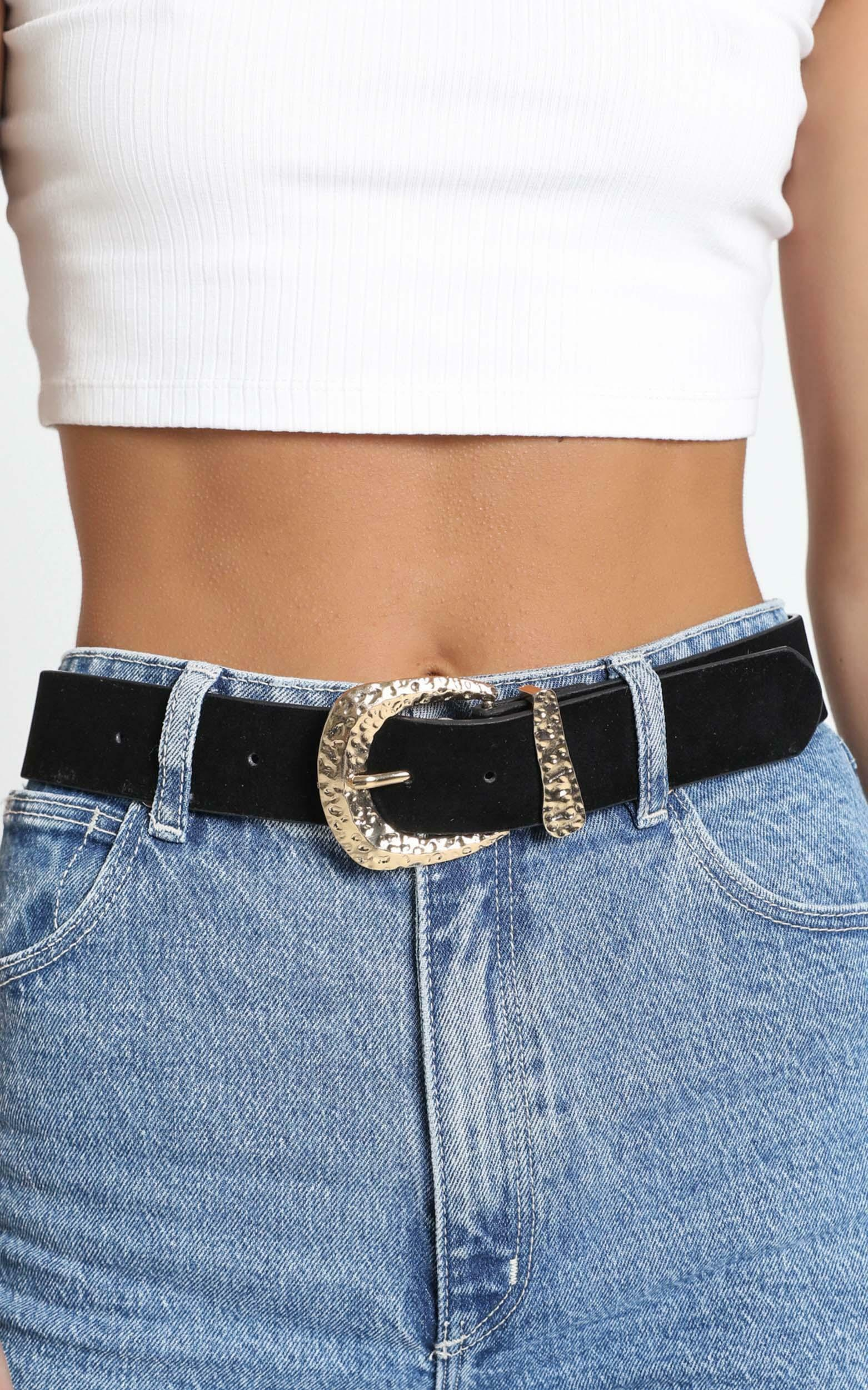 Elecktra Belt in Black and Gold, , hi-res image number null