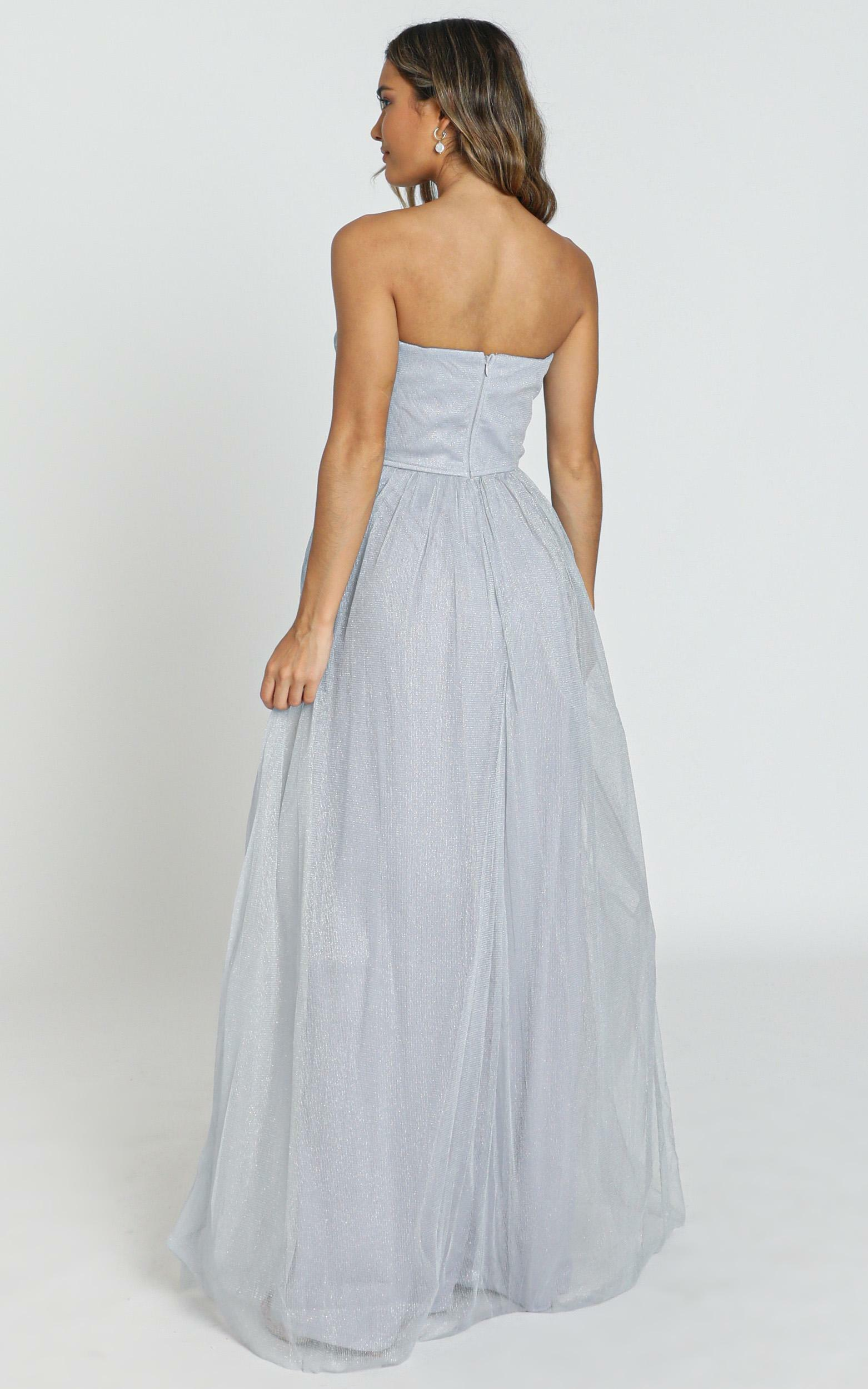 Can't Help It maxi dress in grey - 8 (S), Grey, hi-res image number null