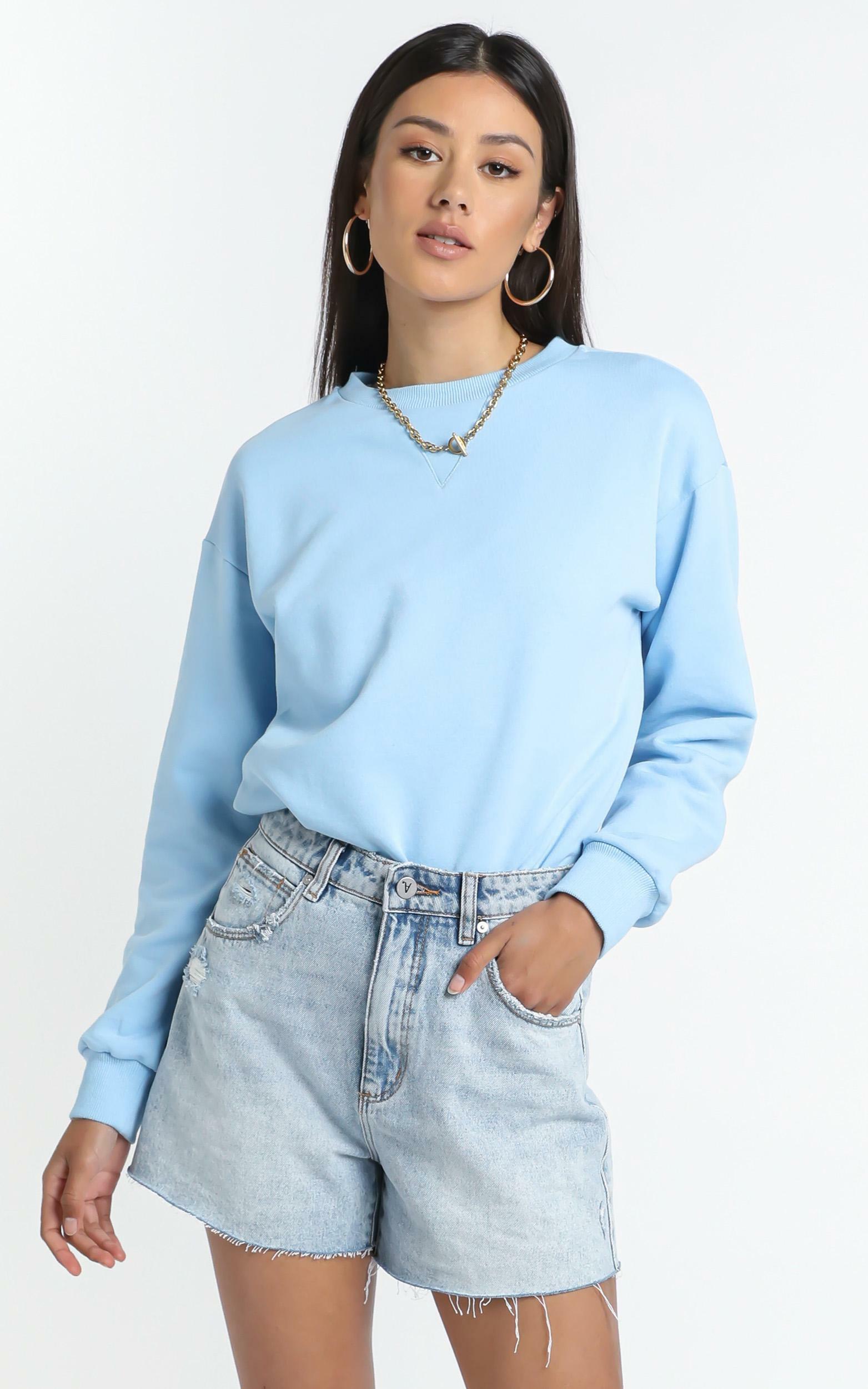 Lourdes Sweatshirt in Blue - 14 (XL), Blue, hi-res image number null