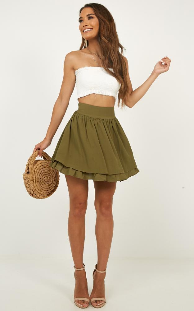 Heart Ache Skirt in khaki - 12 (L), Khaki, hi-res image number null