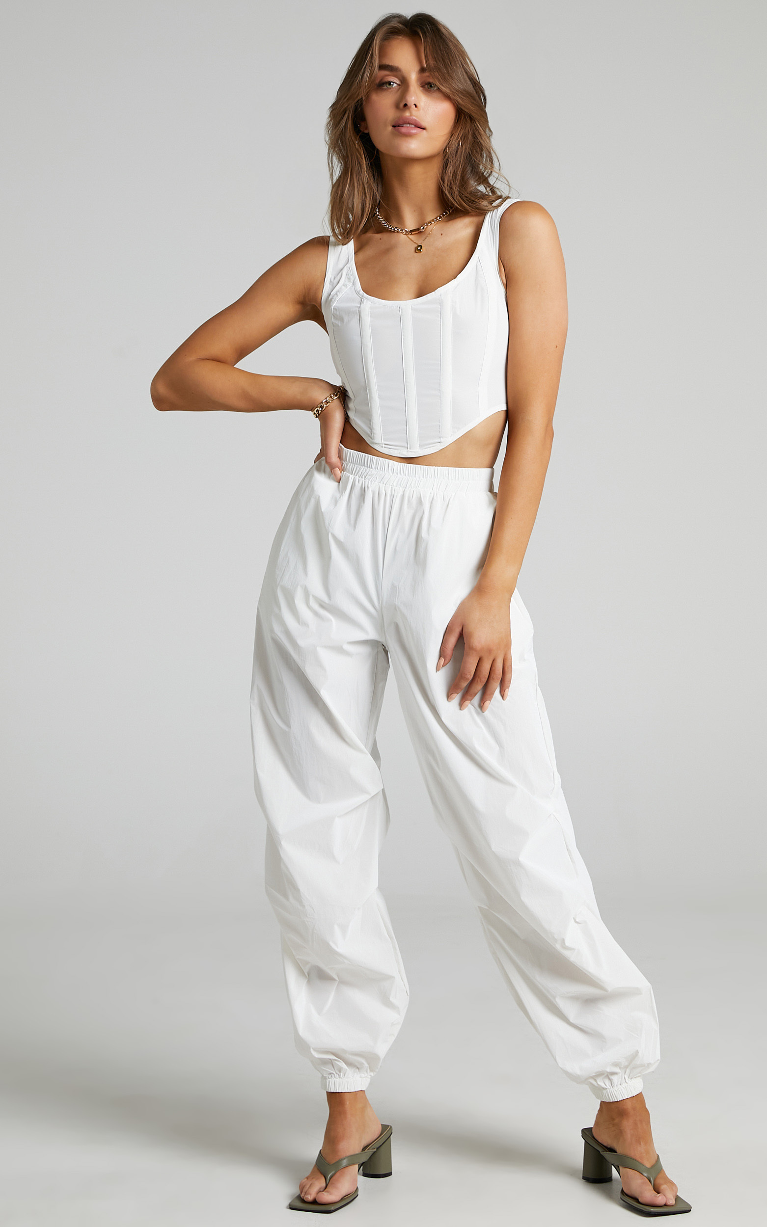 BY DYLN - Franco Pants in White - L, WHT2, hi-res image number null