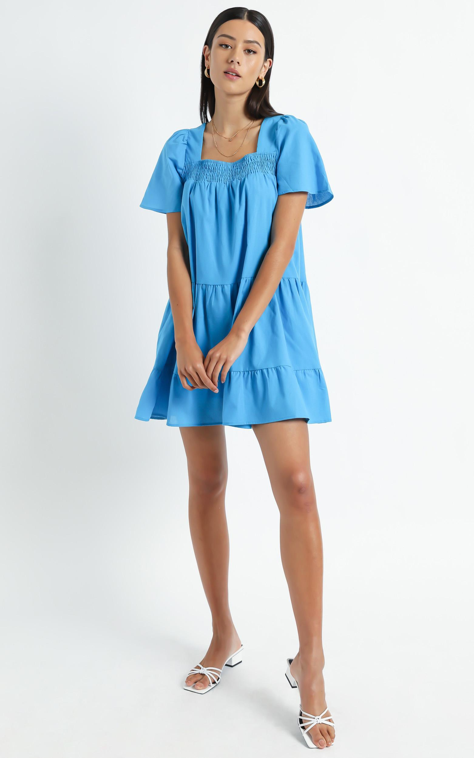 Donya Dress in Blue - 6 (XS), Blue, hi-res image number null
