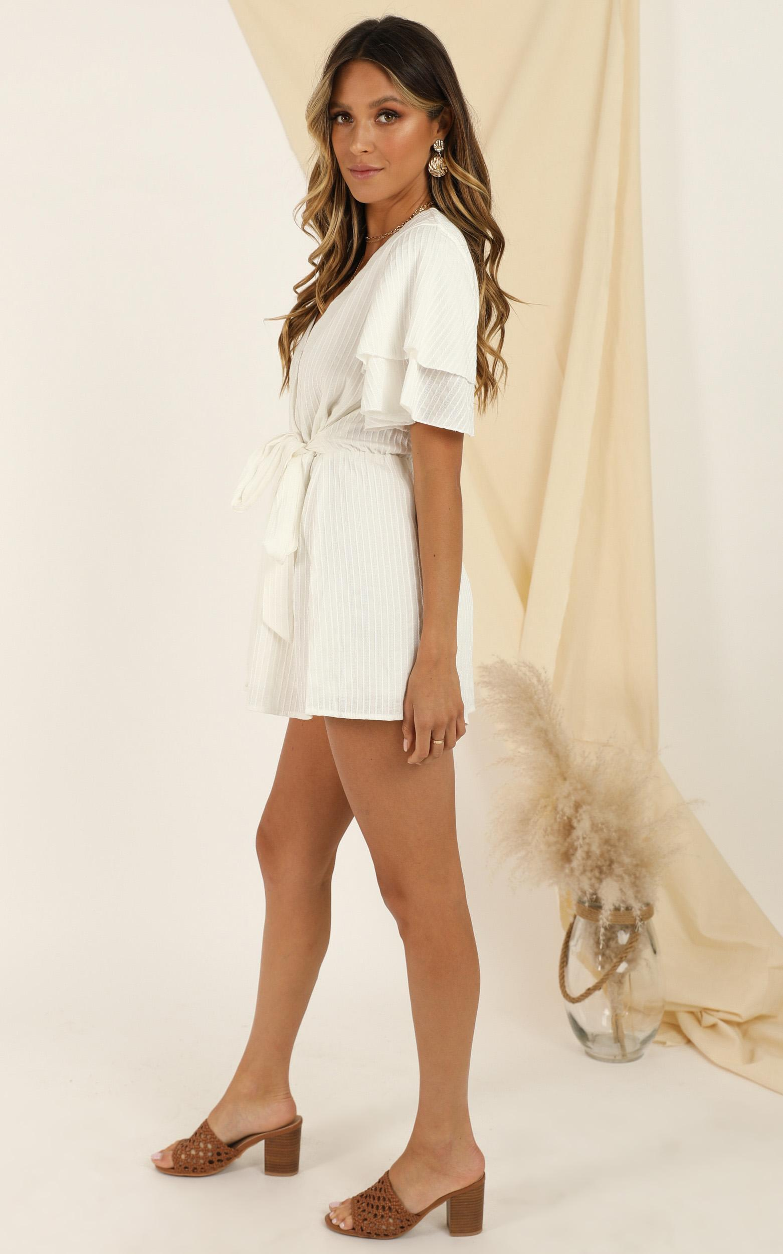 Run Away Girl Playsuit in white - 20 (XXXXL), White, hi-res image number null