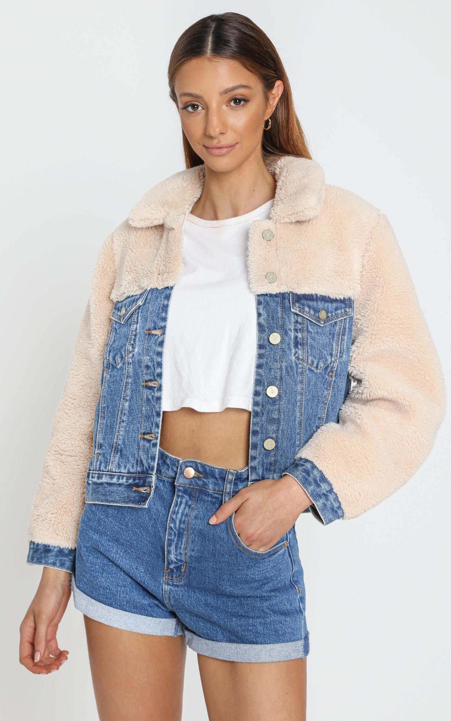 Abrand - A Josie Sherpa Jacket Electra - 6 (XS), Blue, hi-res image number null
