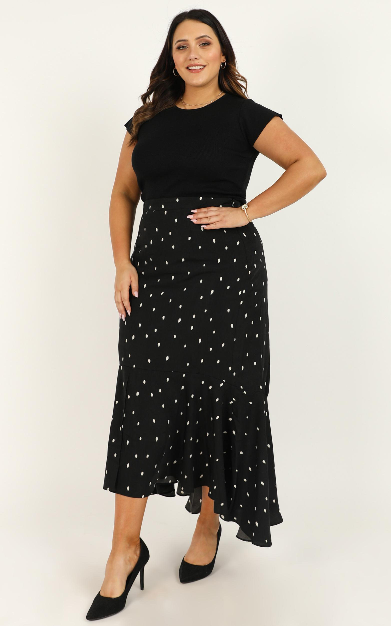 Need More Info Skirt in black spot - 20 (XXXXL), Black, hi-res image number null