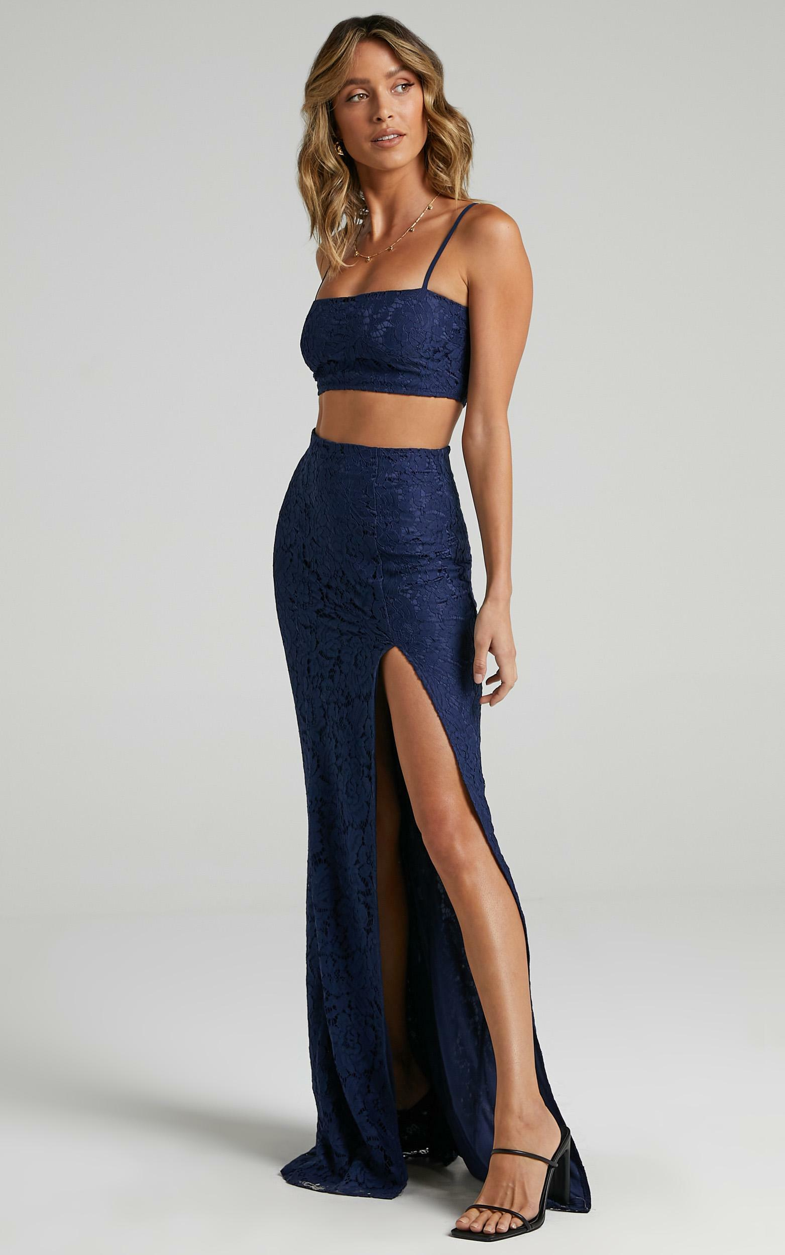 Tylah Two Piece Set in Navy Lace - 06, NVY1, hi-res image number null