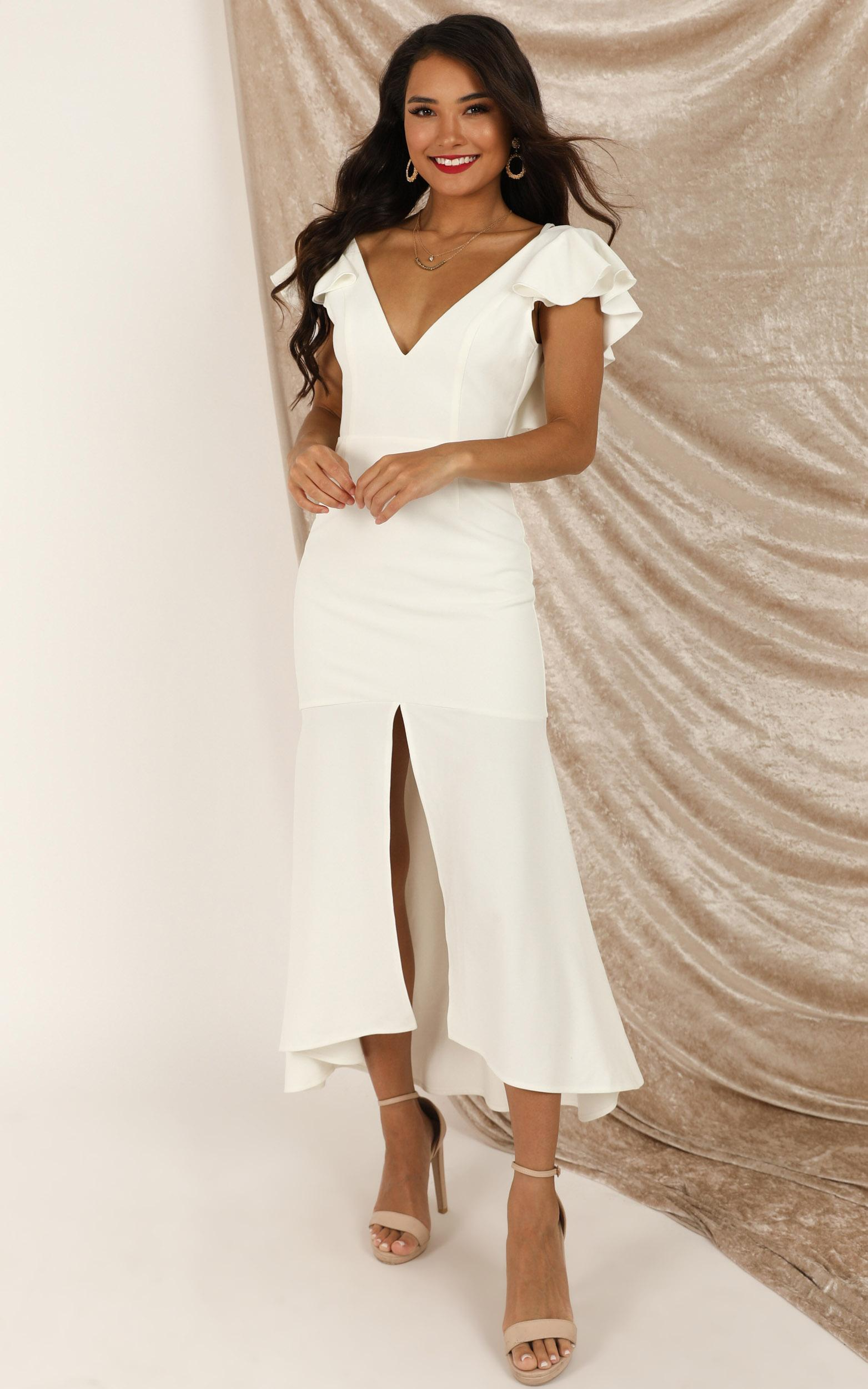 Dancing Down The Street Dress in white - 20 (XXXXL), White, hi-res image number null