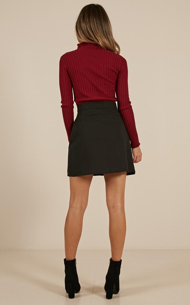 Crown Jewels Skirt in Black - 4 (XXS), Black, hi-res image number null