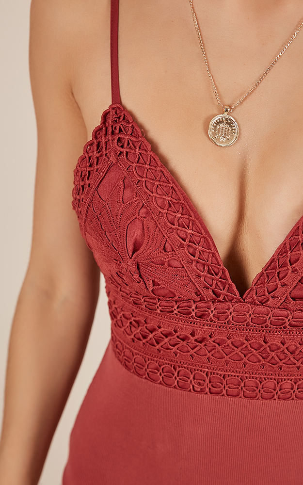 Thinking Out Loud bodysuit in rose - 12 (L), Pink, hi-res image number null