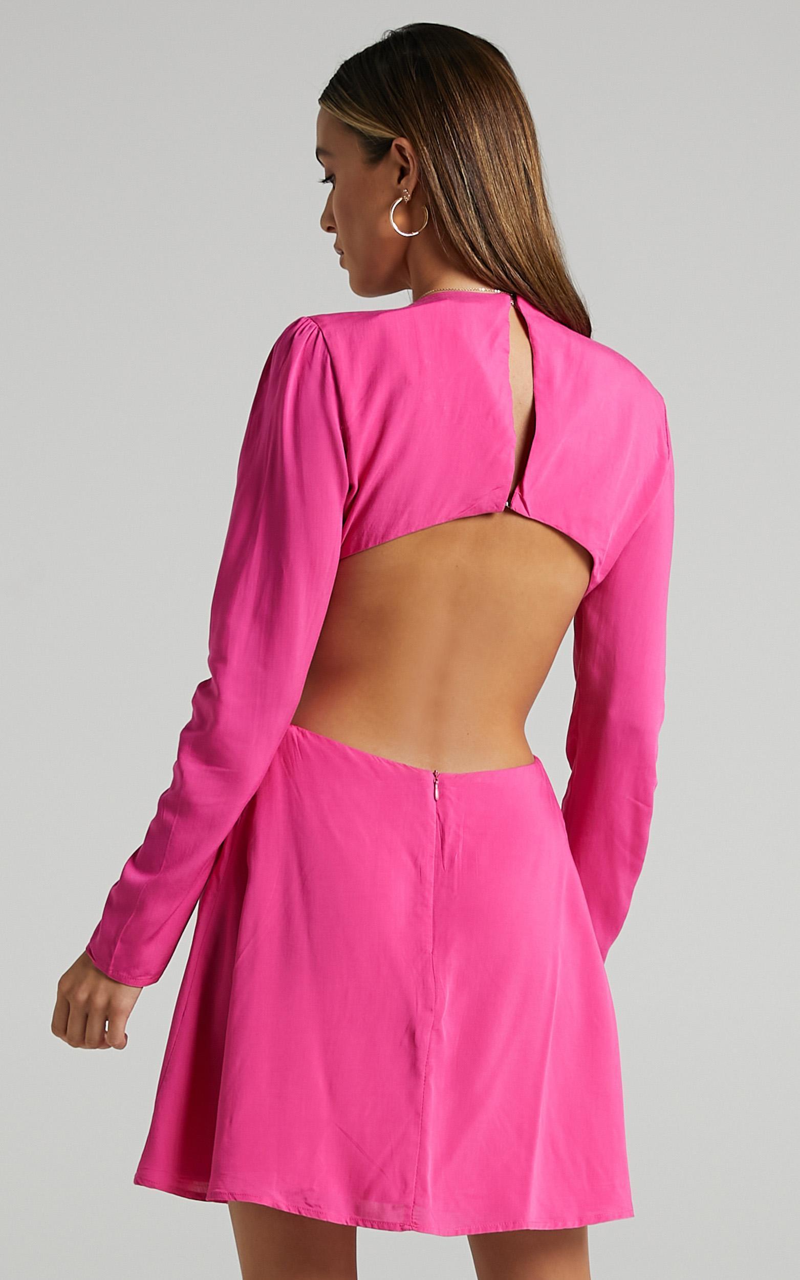 Ripon Dress in Hot Pink - 6 (XS), PNK11, hi-res image number null