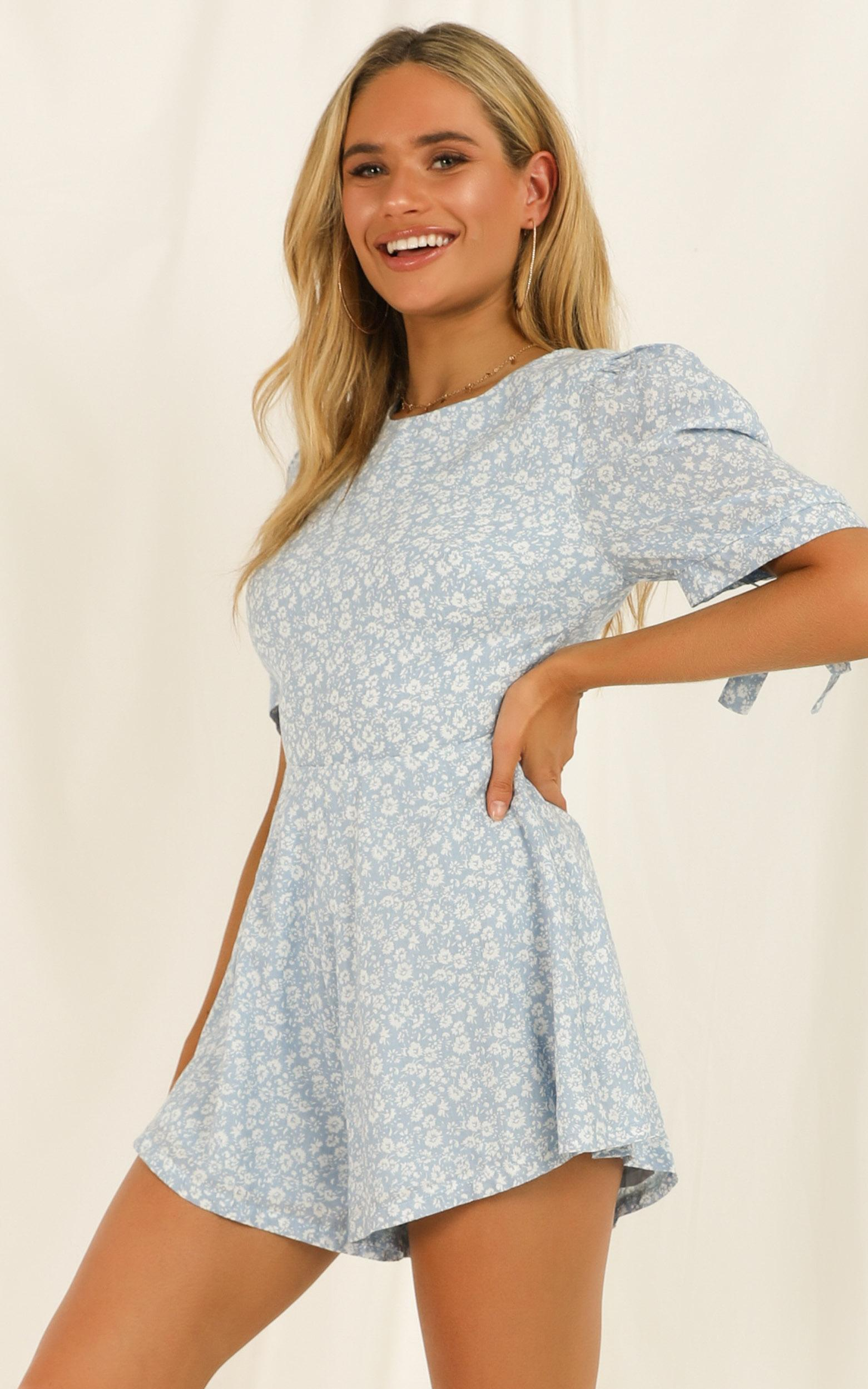A Little Nostalgic Playsuit in blue - 20 (XXXXL), Blue, hi-res image number null