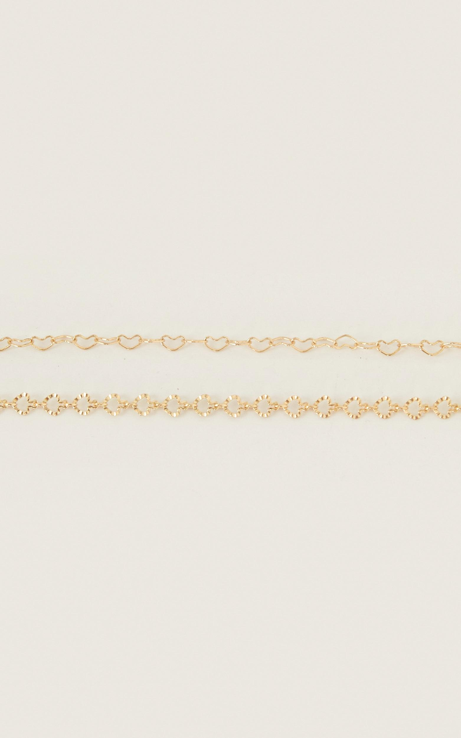 Steer Clear Anklet Set In Gold, , hi-res image number null