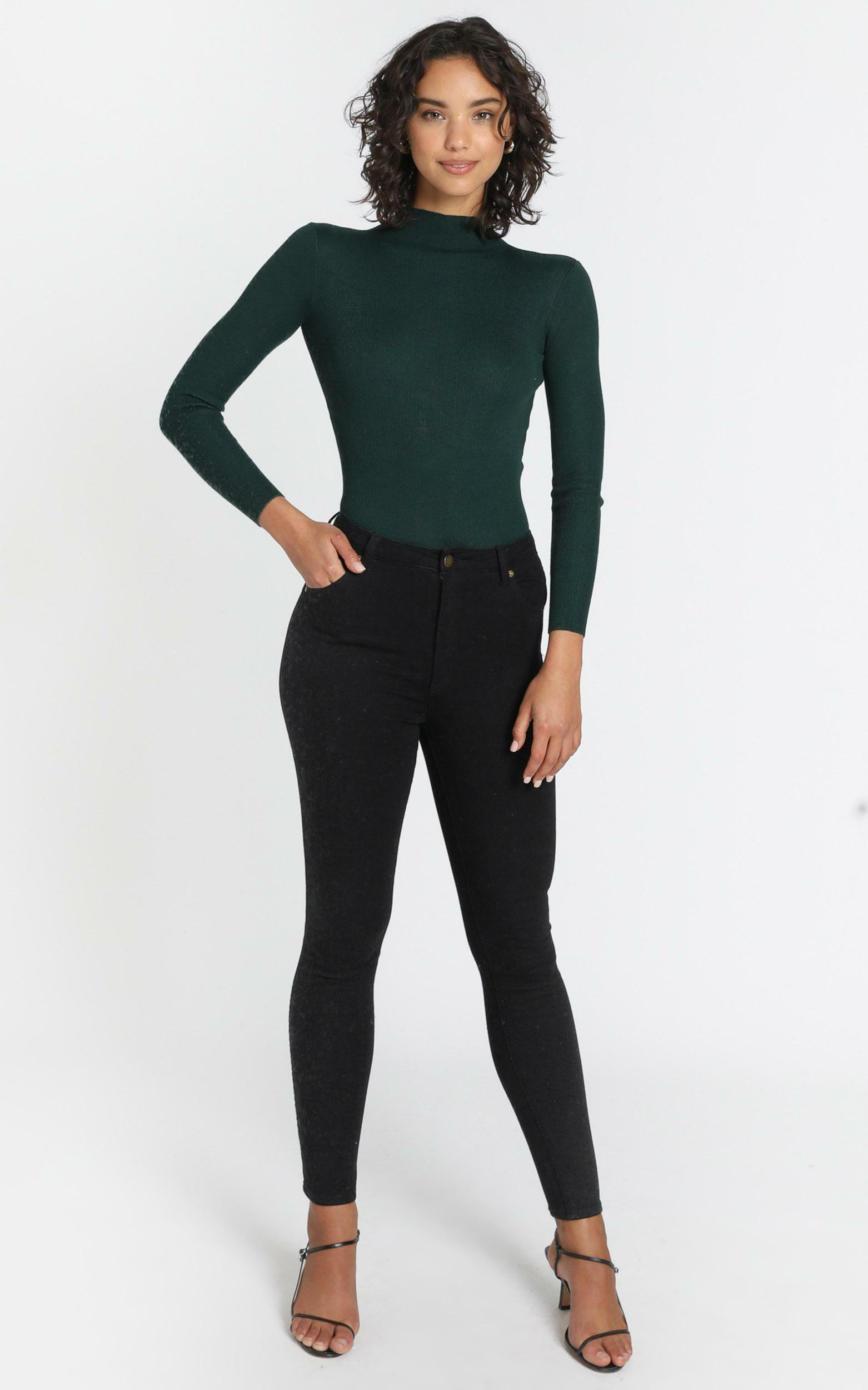 Lust for life knit top in green - 6 (XS), Green, hi-res image number null