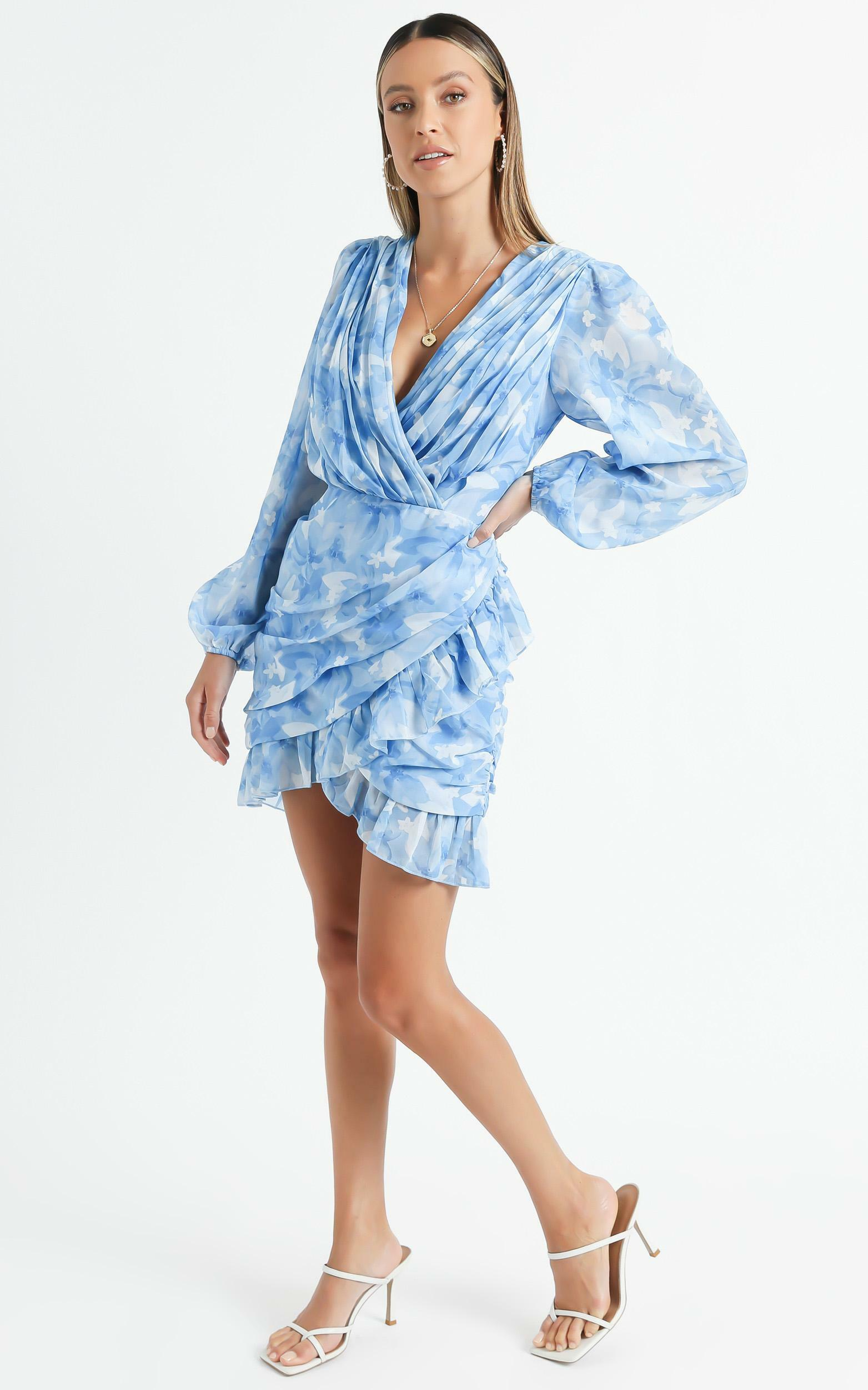Can I Be Your Honey Dress in Cloudy Floral - 06, BLU1, hi-res image number null