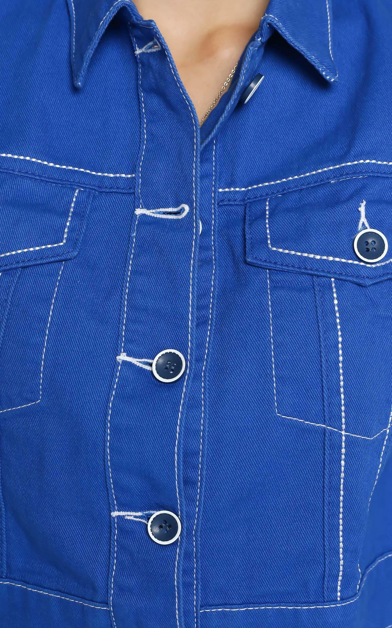 Lioness - Reign Denim Jacket in Cobalt Blue - 4 (XXS), BLU1, hi-res image number null