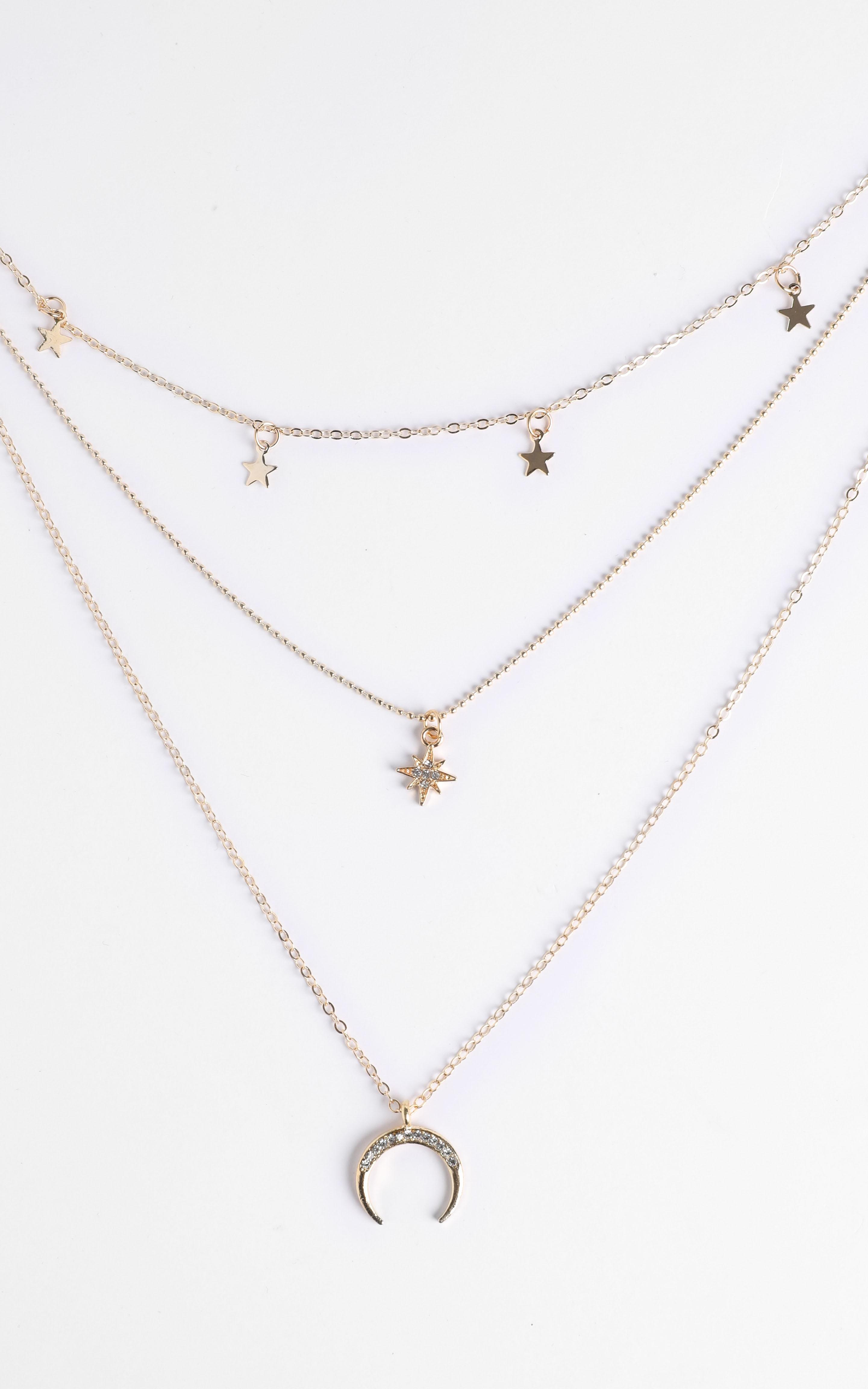 Alissa Star Layered Necklace in Gold, , hi-res image number null