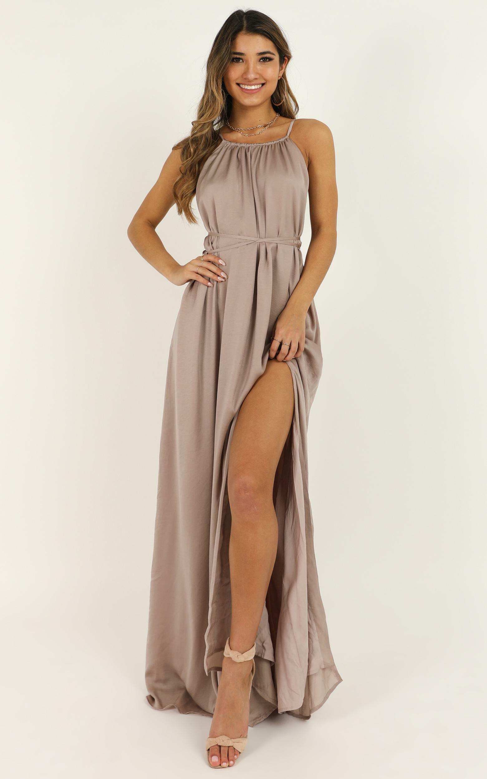 Graceful Dancer Dress in mocha - 20 (XXXXL), Mocha, hi-res image number null