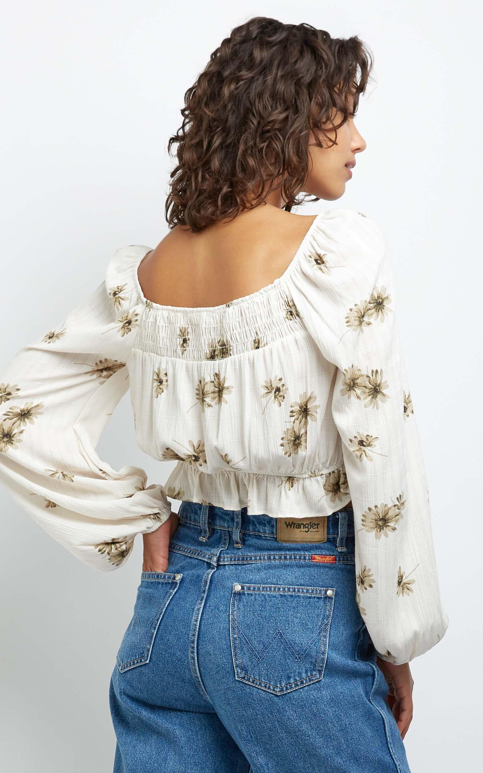 Hastings Top in Ivory Floral - 10 (M), White, hi-res image number null