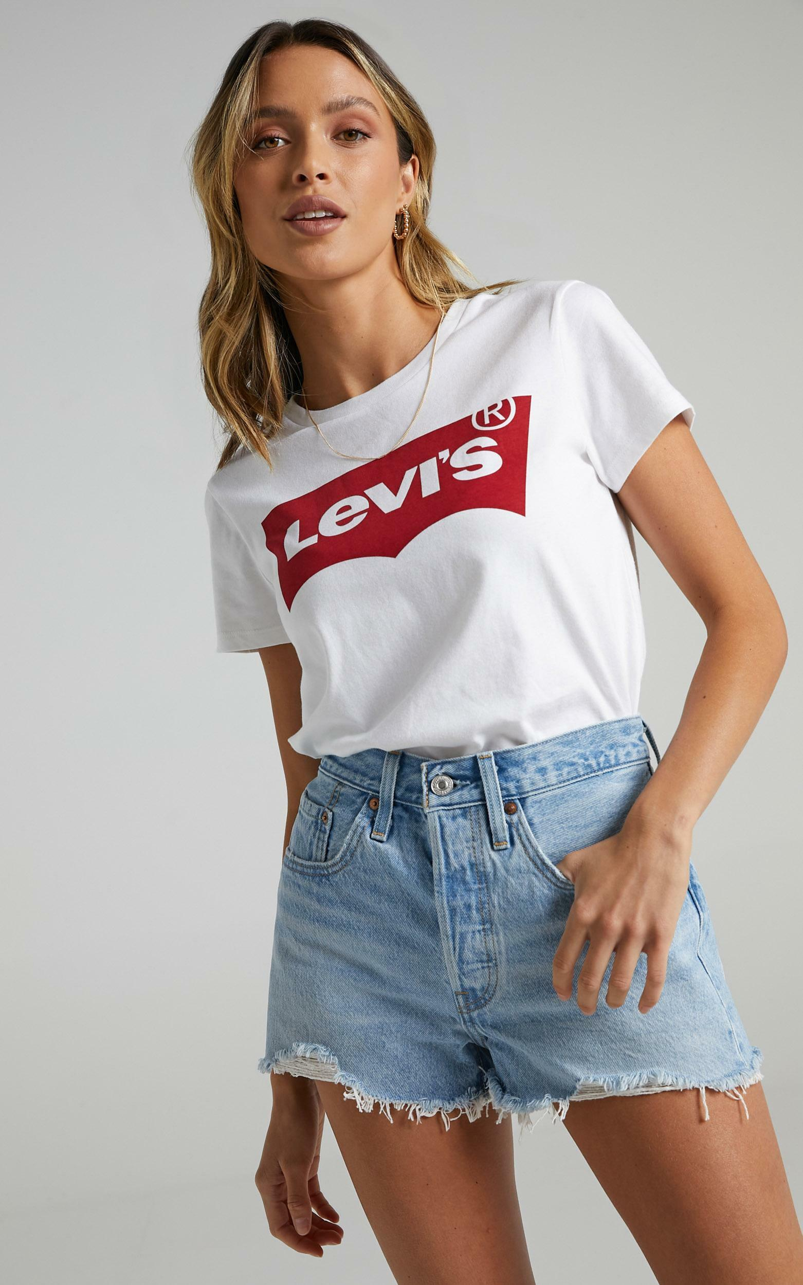 Levis - Perfect Batwing Tee in White - XS, WHT1, hi-res image number null