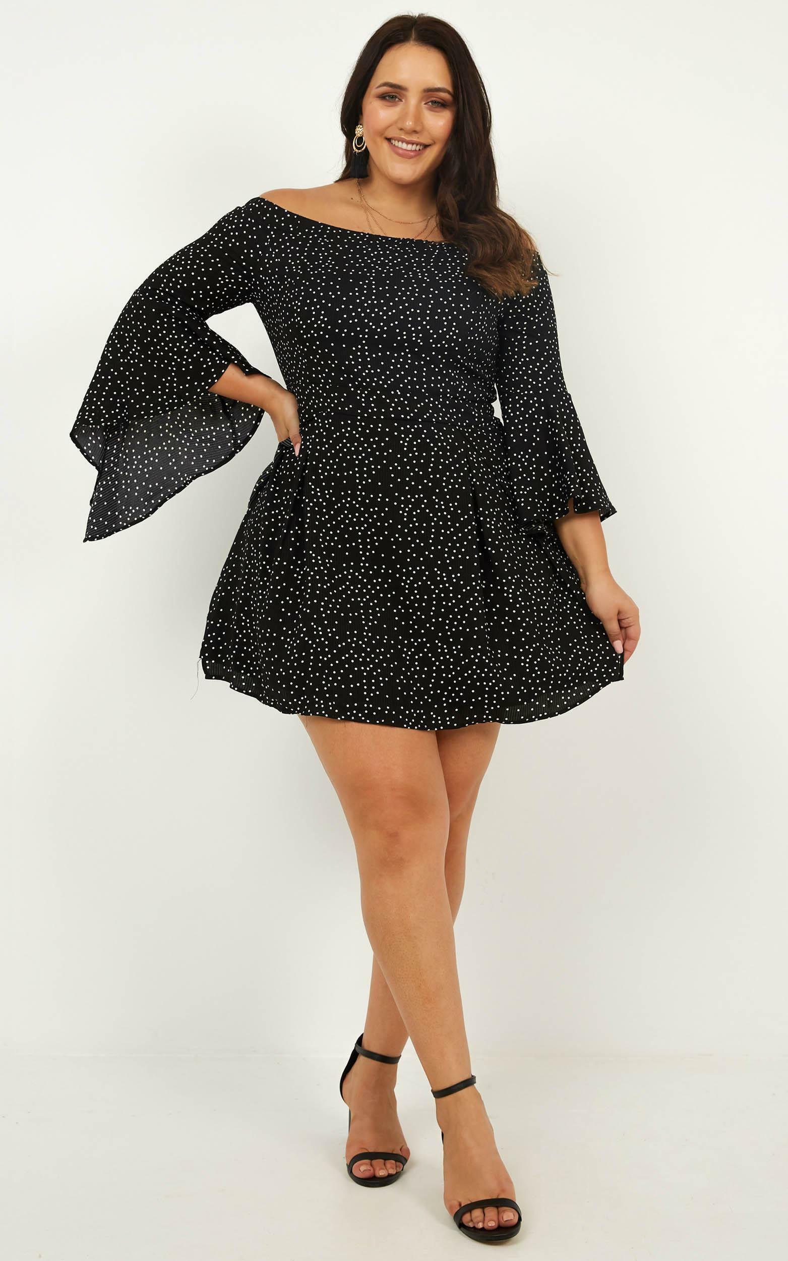 Break My Heart Dress In black spot - 20 (XXXXL), Black, hi-res image number null