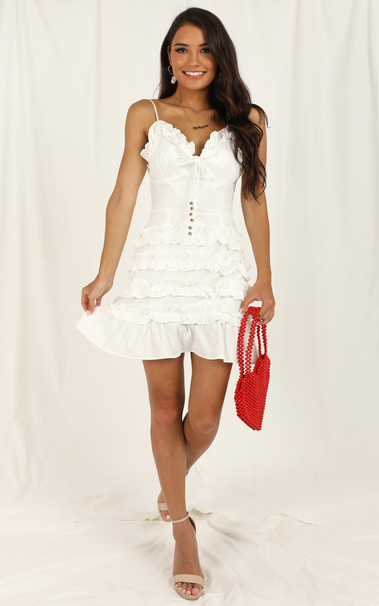 Raise A Glass dress in white - 12 (L), White, hi-res image number null