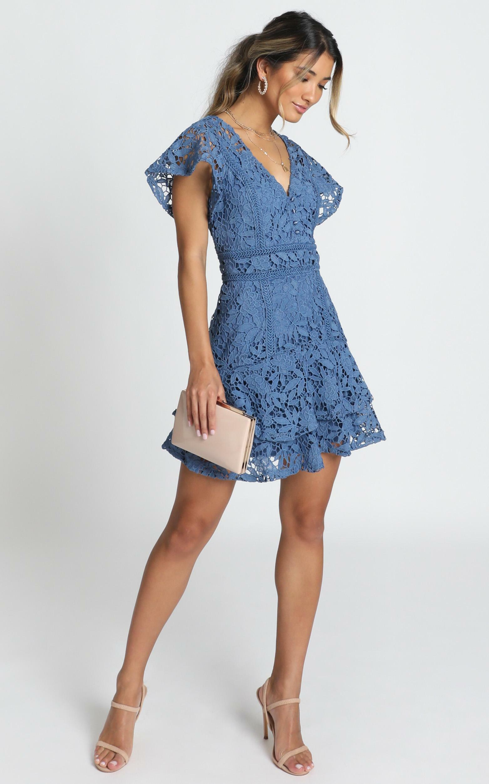 New Edition dress in navy lace - 16 (XXL), Navy, hi-res image number null