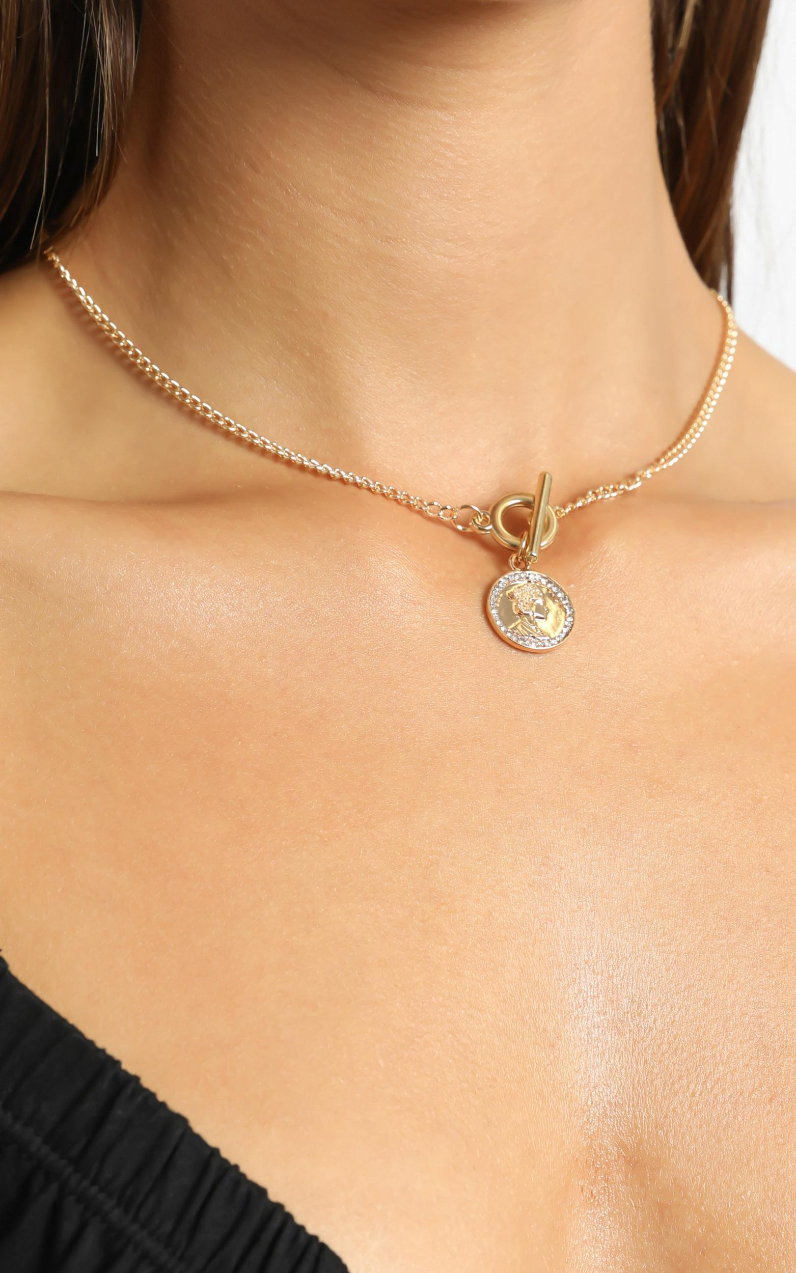 Lucina Necklace in Gold, , hi-res image number null