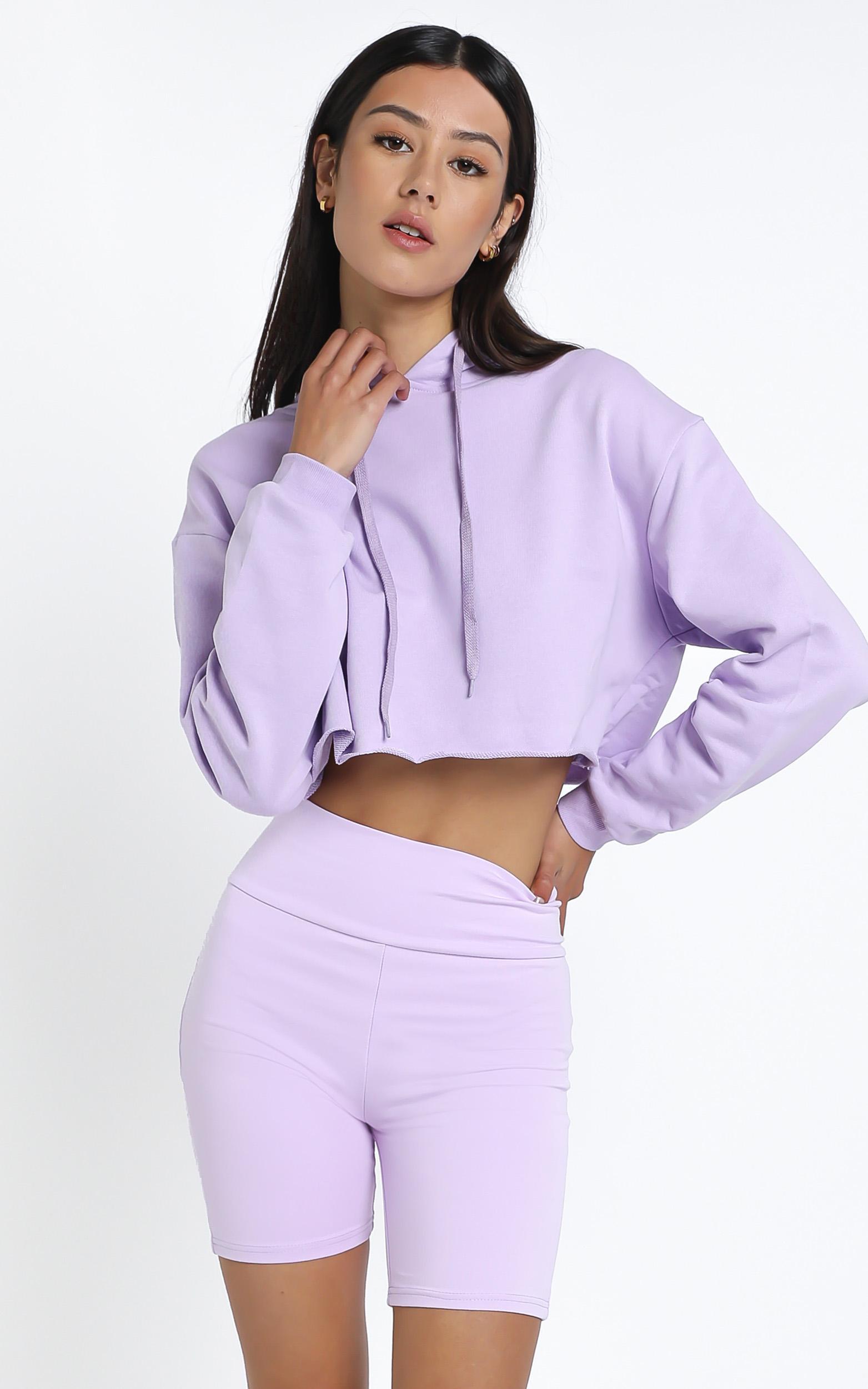 Mackinley Hoodie in Lilac - 14 (XL), Purple, hi-res image number null